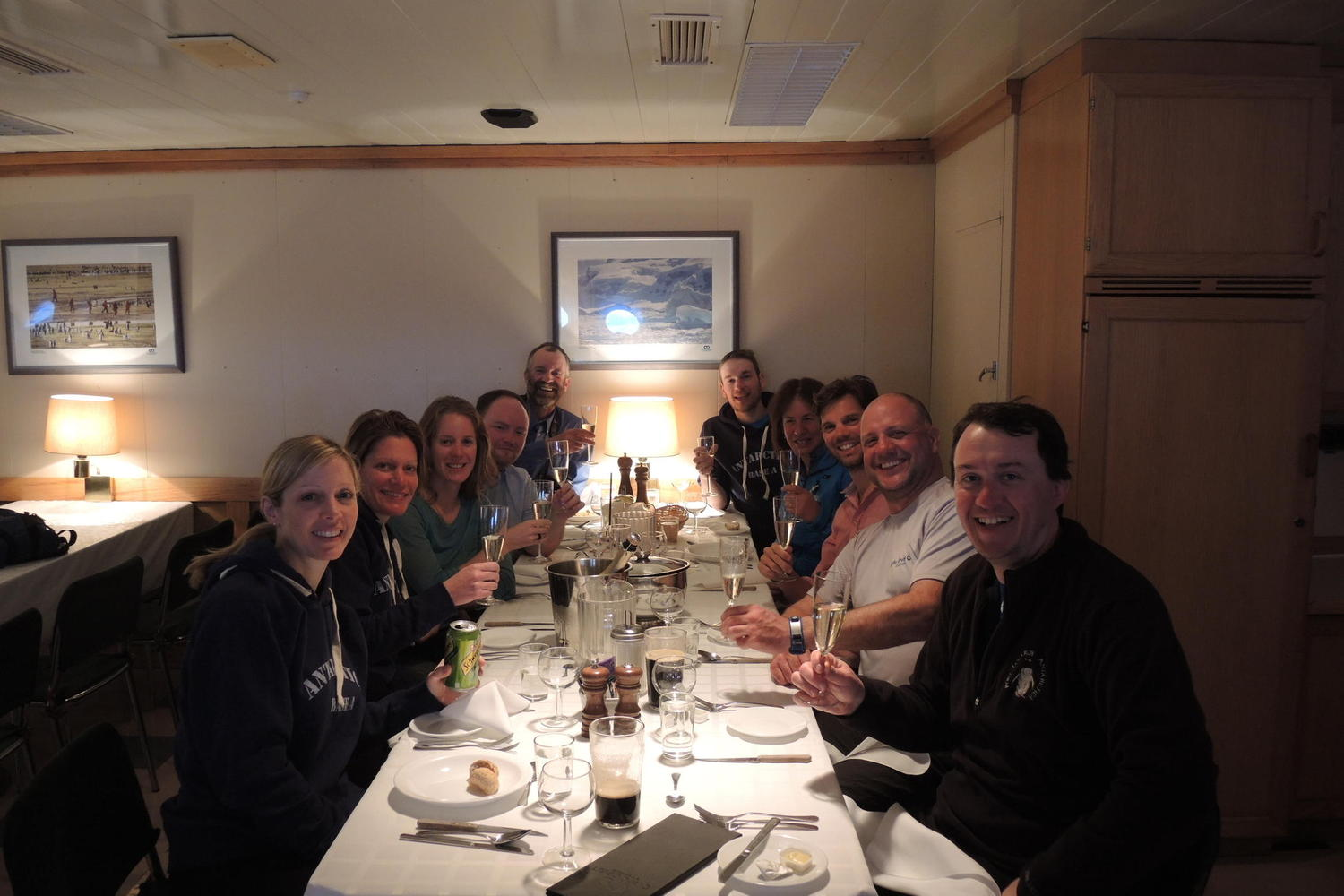 Convivial times on board your cruise to Antarctica