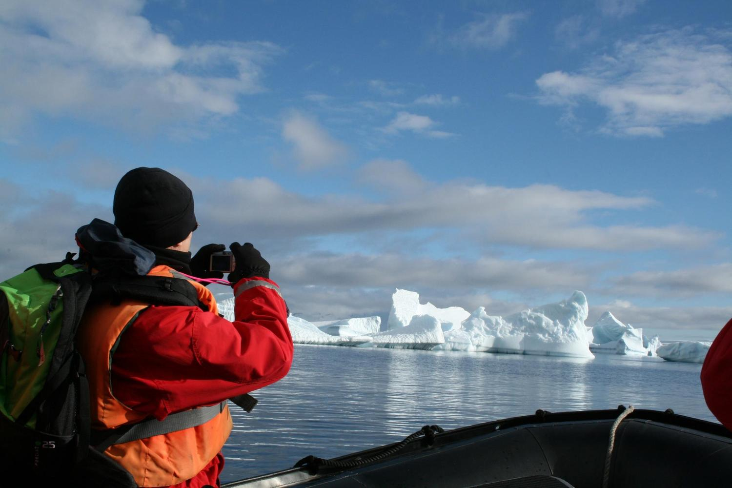 Zodiac rides get you close to icebergs