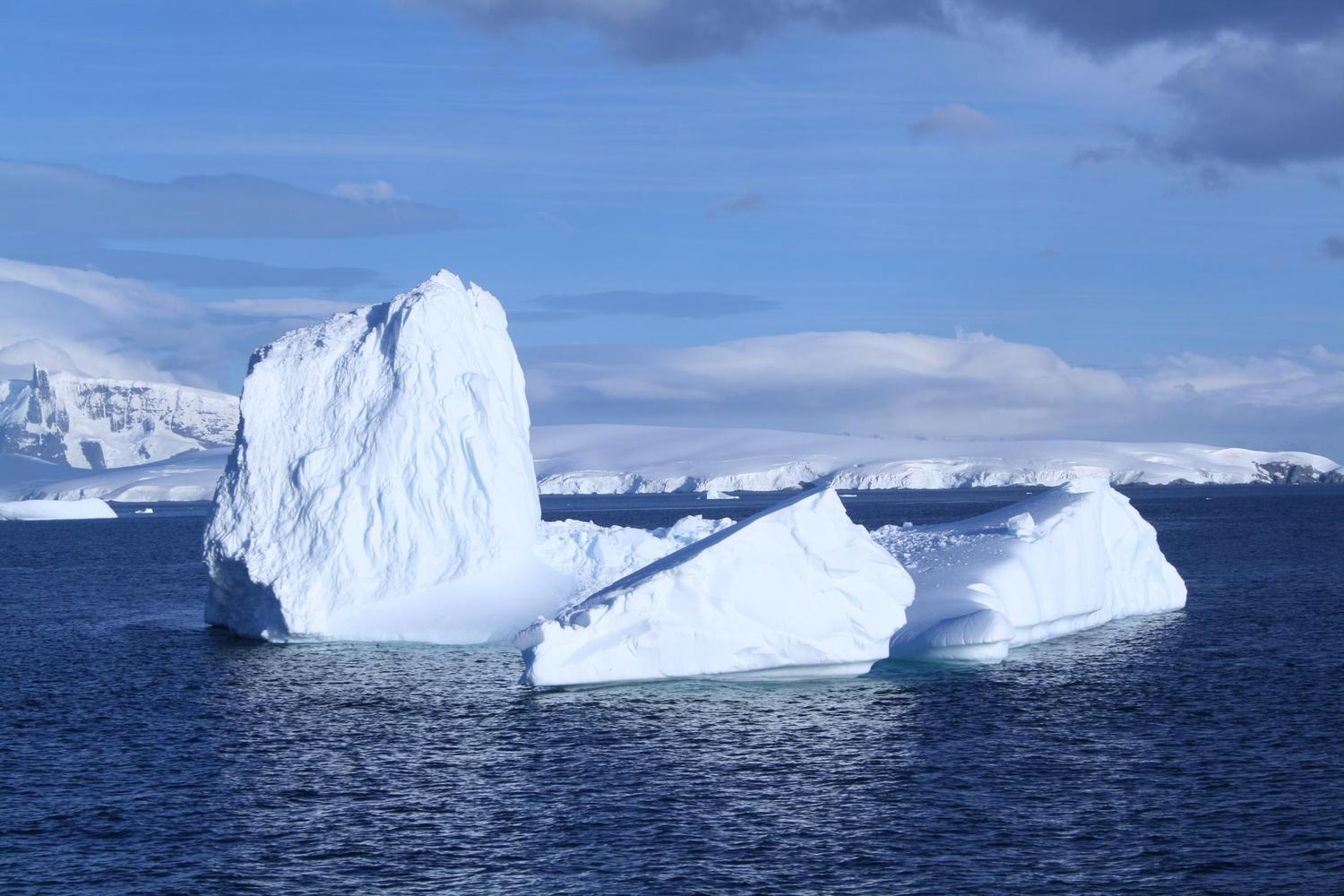 Beautiful icebergs continue even late in the summer season