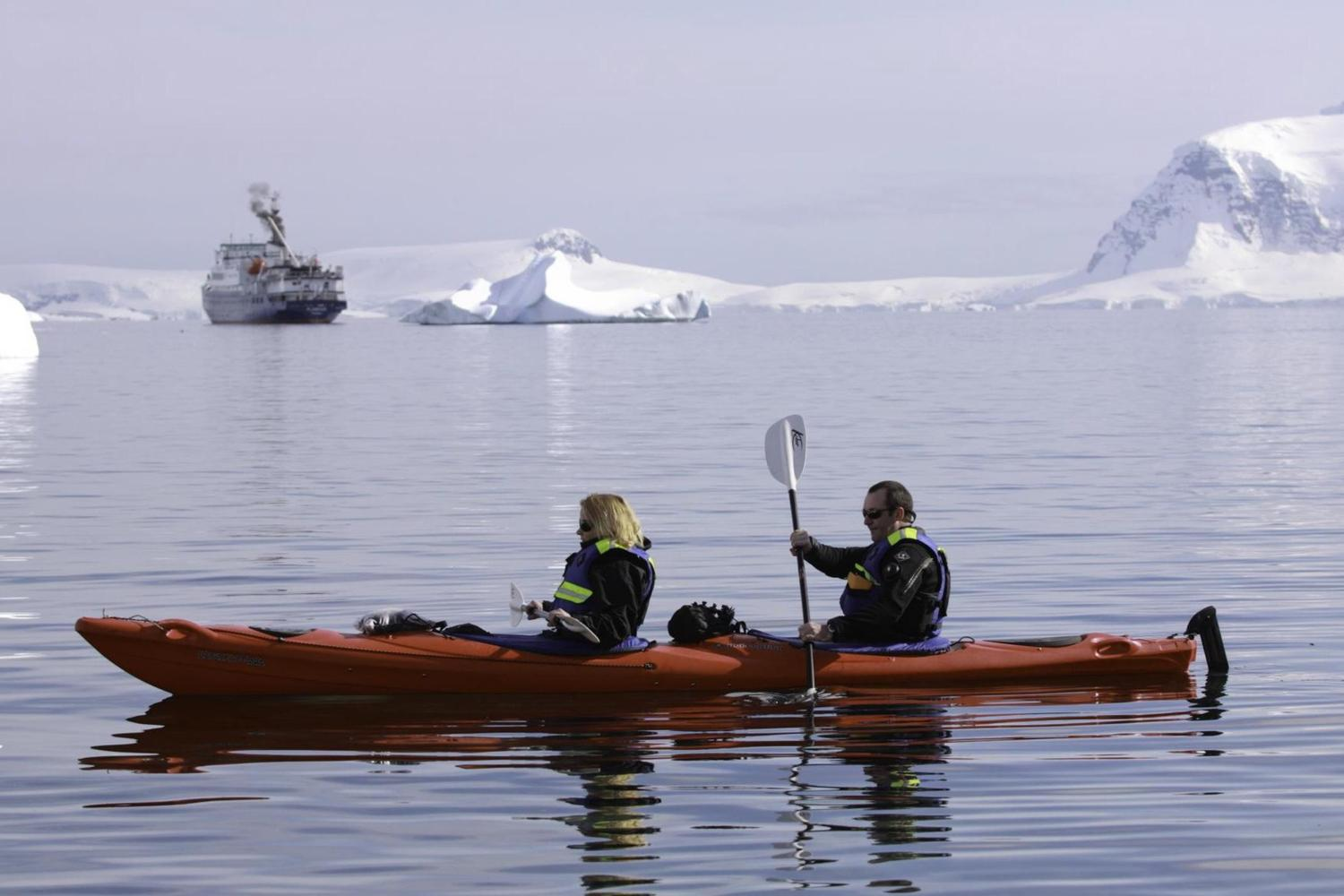 Kayak off Cuverville Island