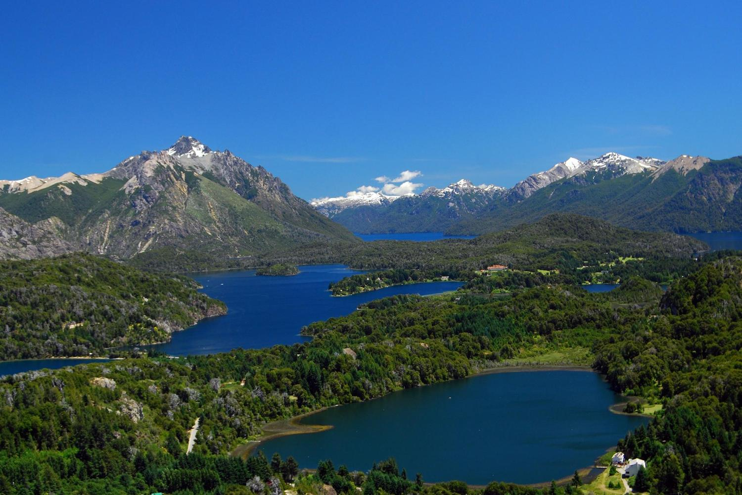Views over the lakes of Bariloche, Argentina