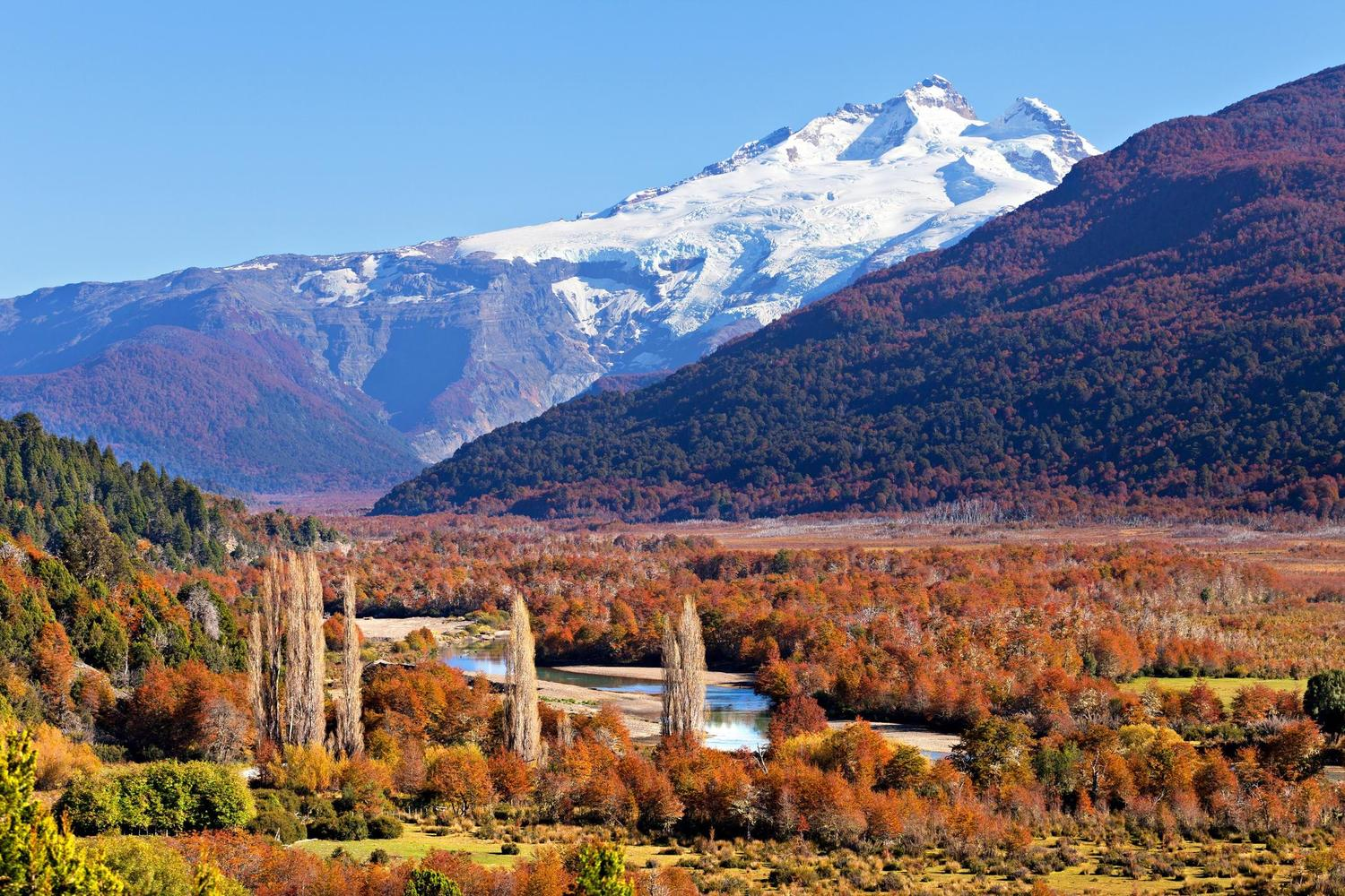 The distinctive peak of Tronador mountain, Bariloche