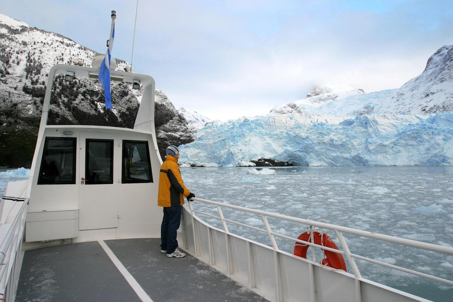In front of the Upsala Glacier, Patagonia