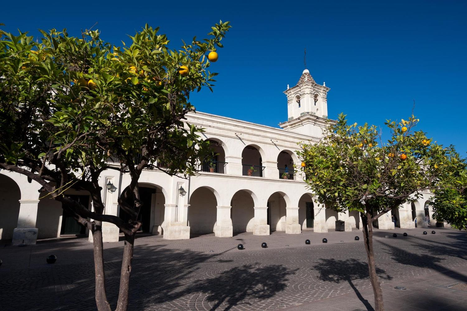 The beautiful central square of Salta