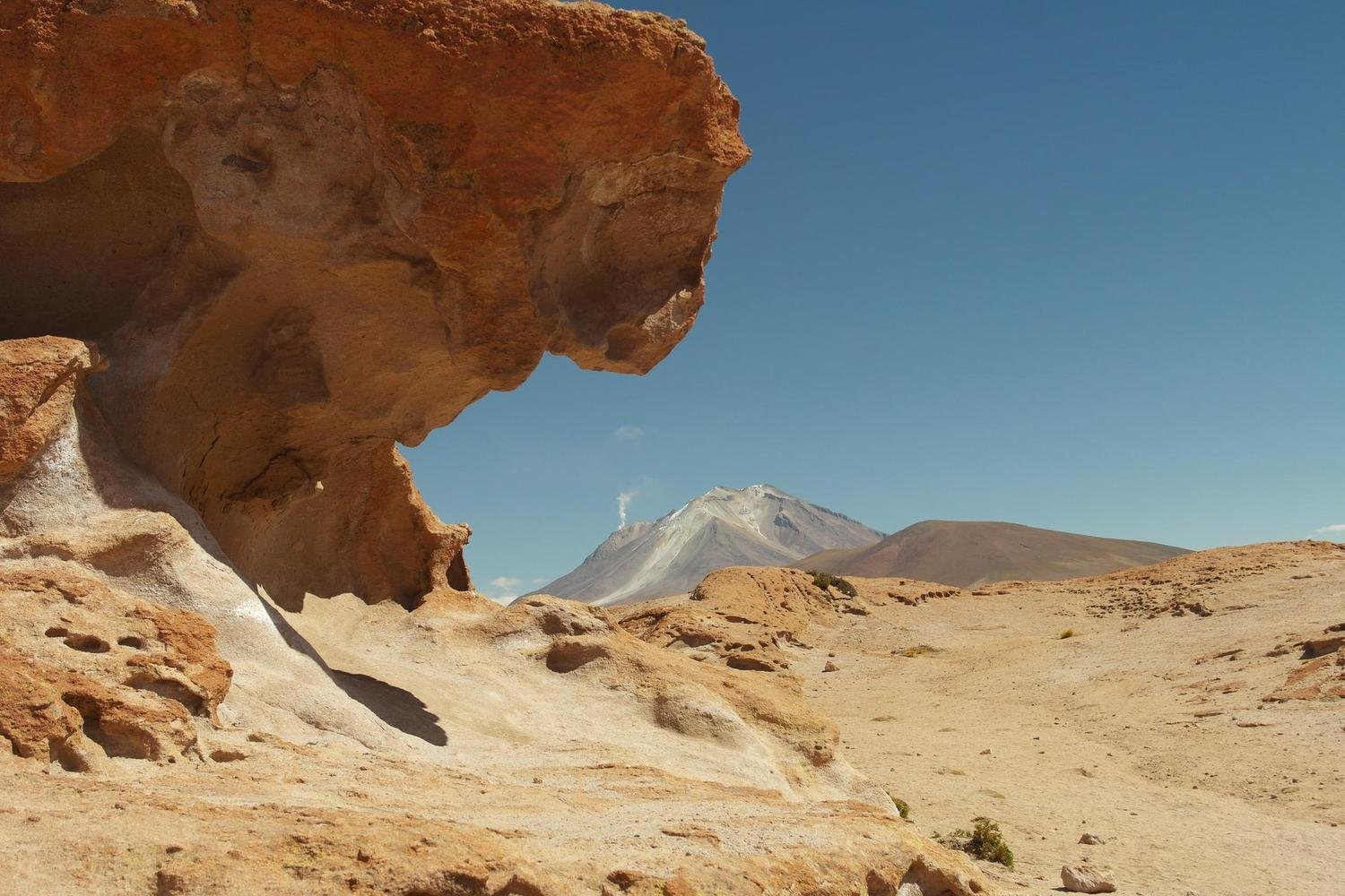 The beautiful rock formations of the stone trees in Bolivia