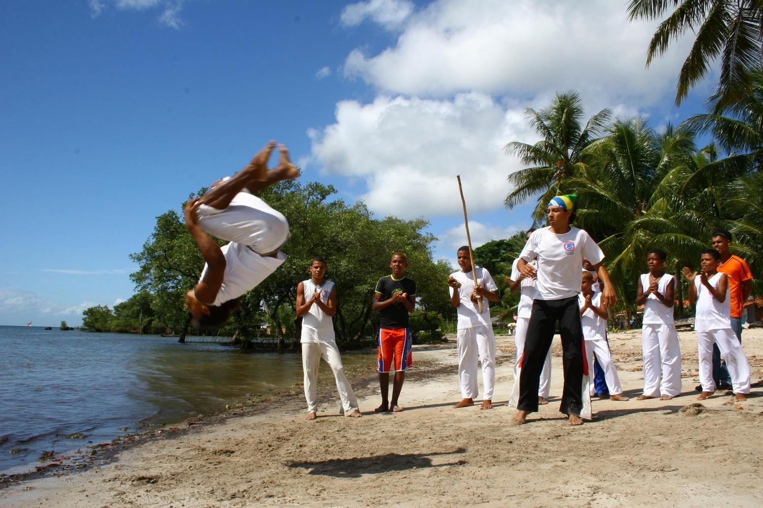 Capoeira practice on the beaches of Boipeba