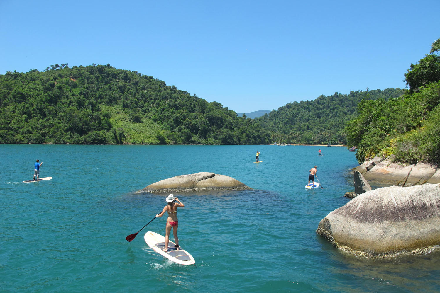Stand up paddle board paradise in Paraty