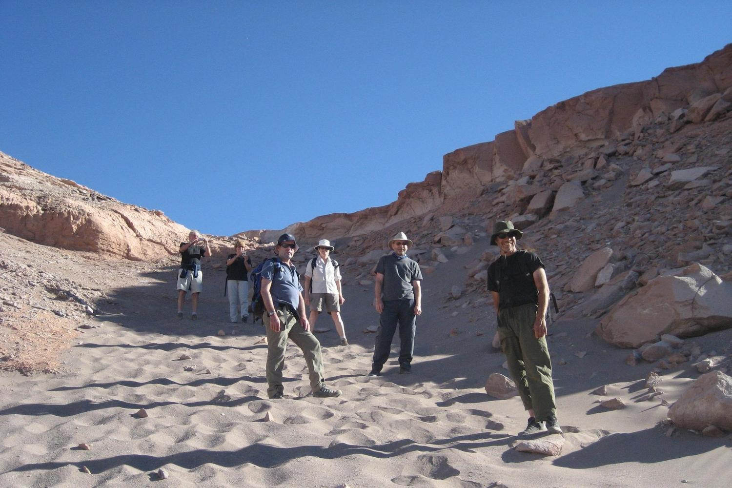 Setting off to hike into the little visited Salt Mountains near San Pedro de Atacama