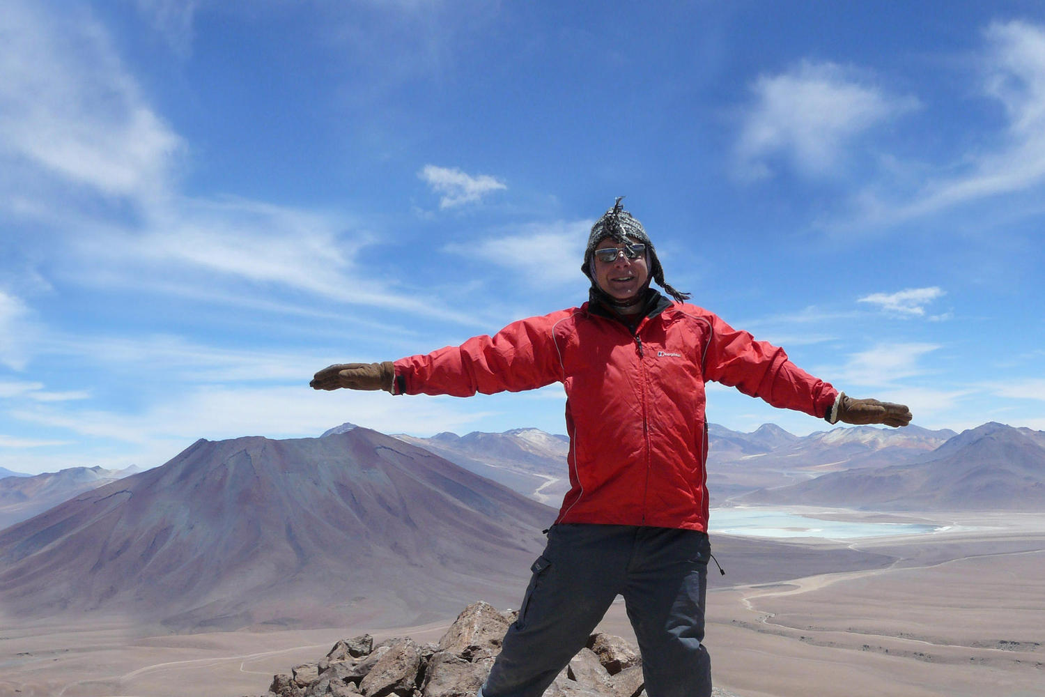 Summit of Toco Volcano in Atacama, Chile.