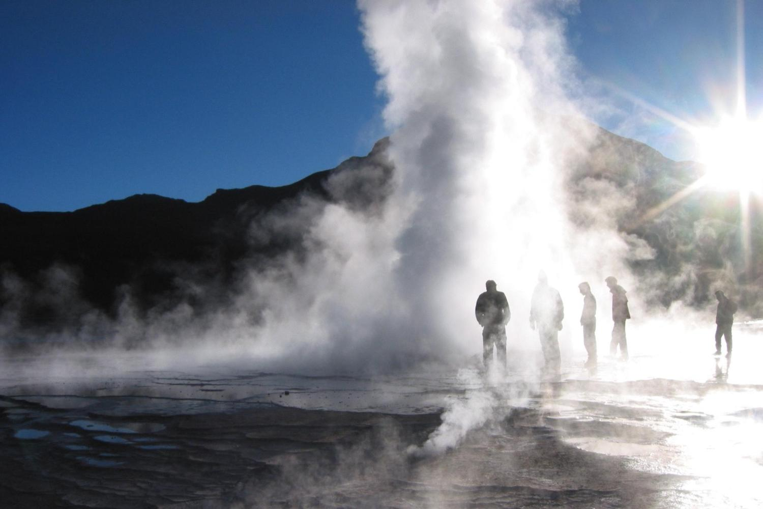 Dawn steam at the Tatio Geysers