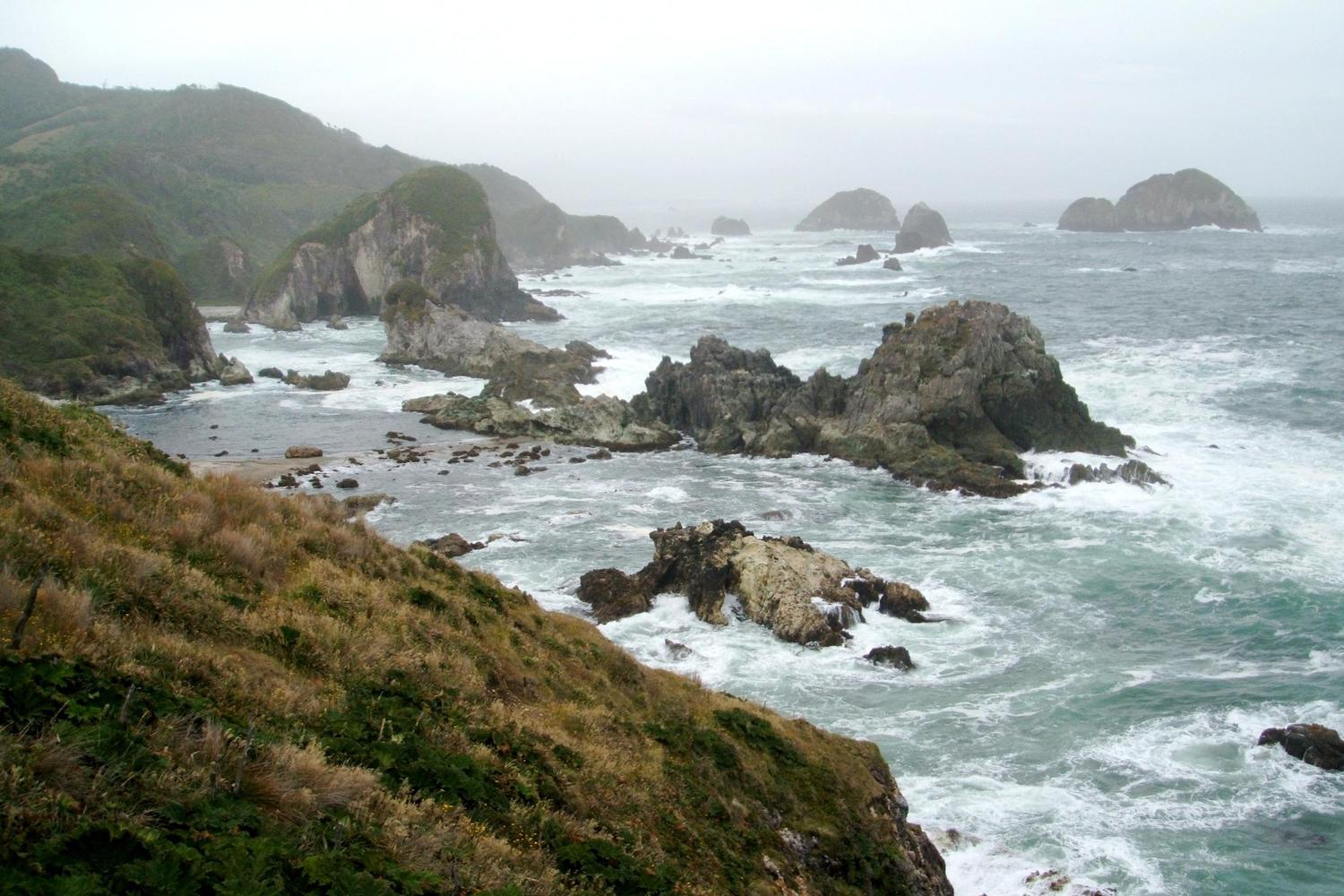 The rugged Pacific coast of Chiloe Grande