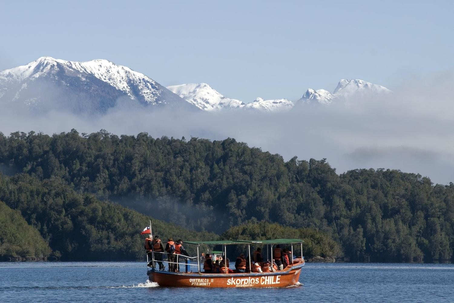 Sailing the fjords of northern Patagonia, Chile