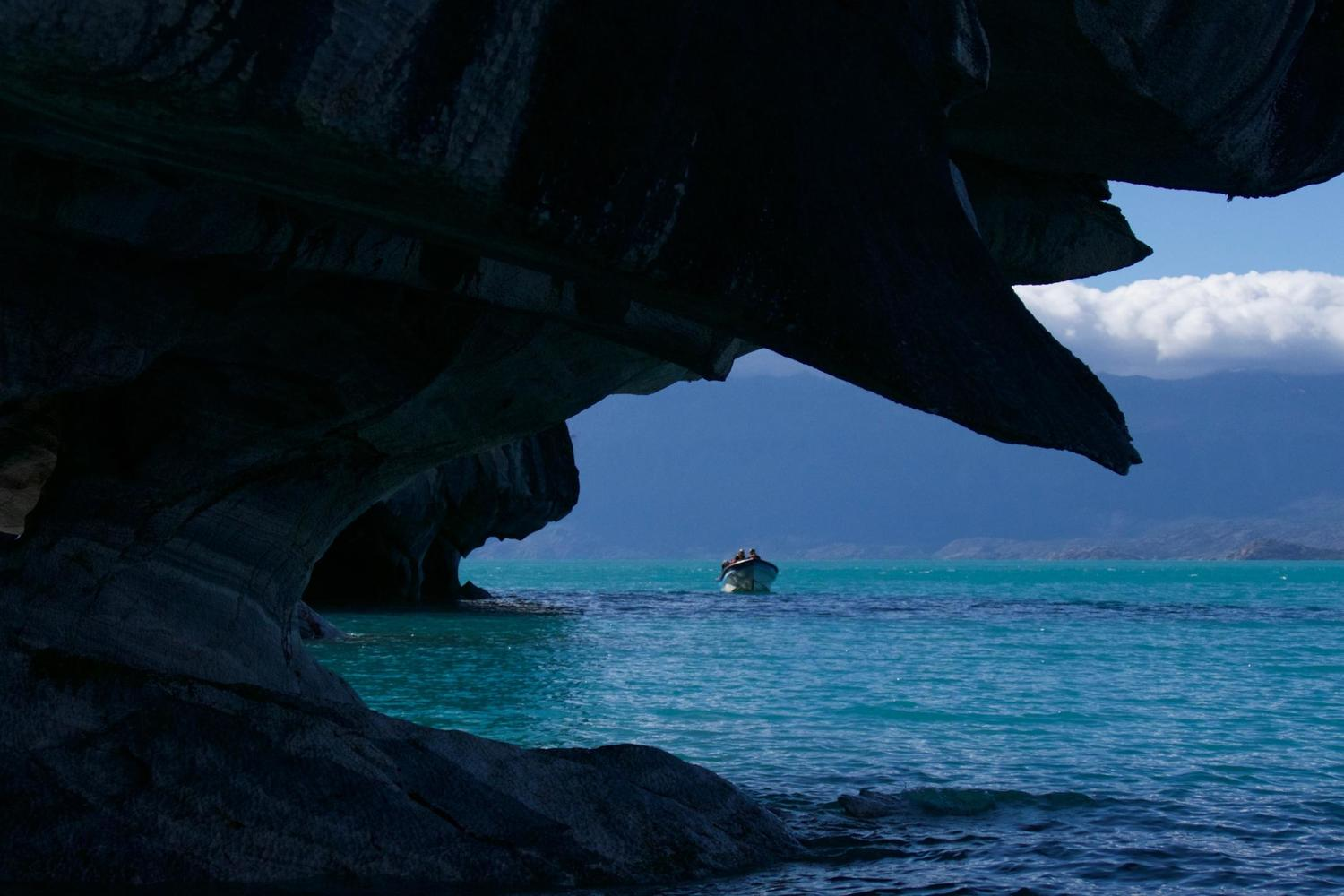 Exploring the marble caves on Lago General Carrera