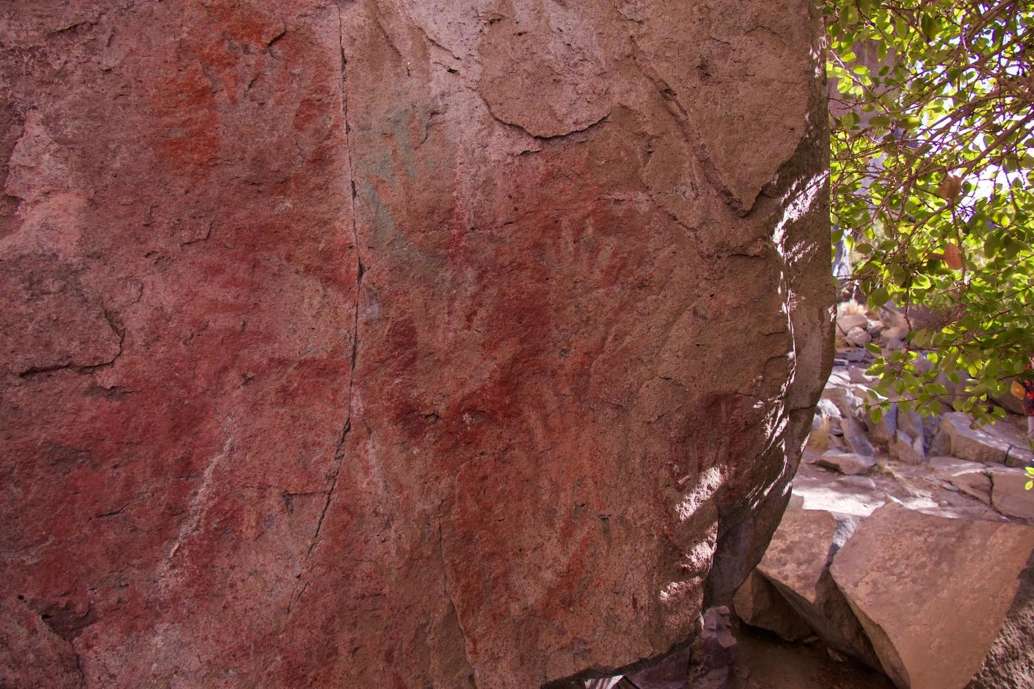 Ancient hand paintings near Cerro Castillo