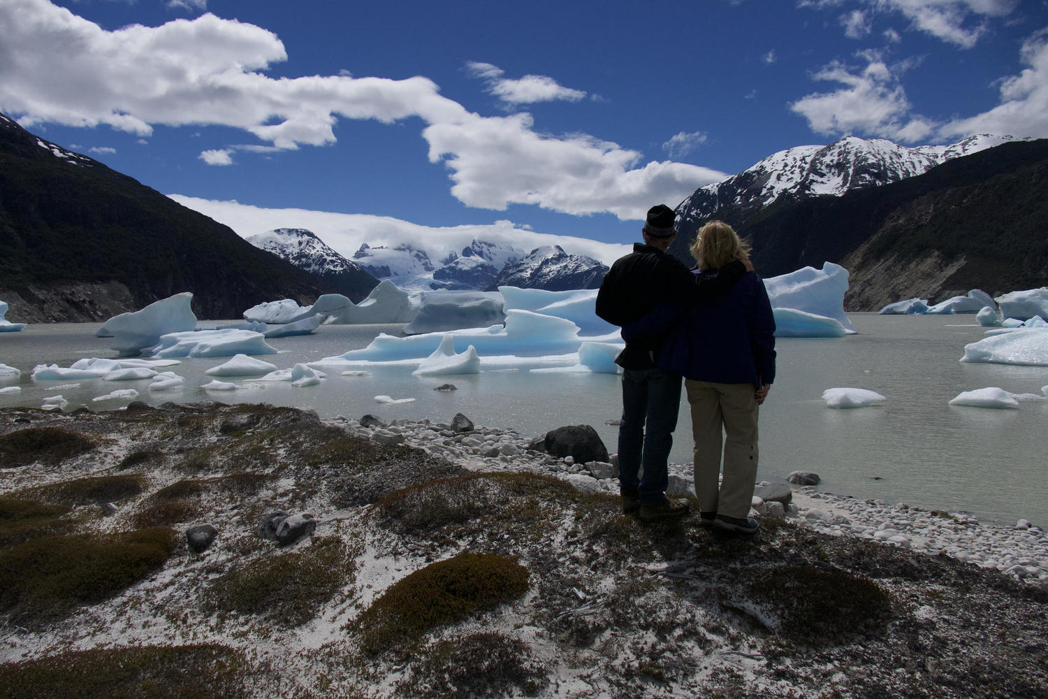 Looking out over the Neff Glacier, part of the Patagonian Icefields.