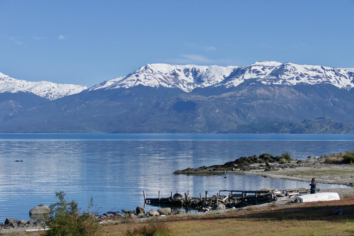 Wonderful views of the lake from Mirador Guadal, Carretera Austral