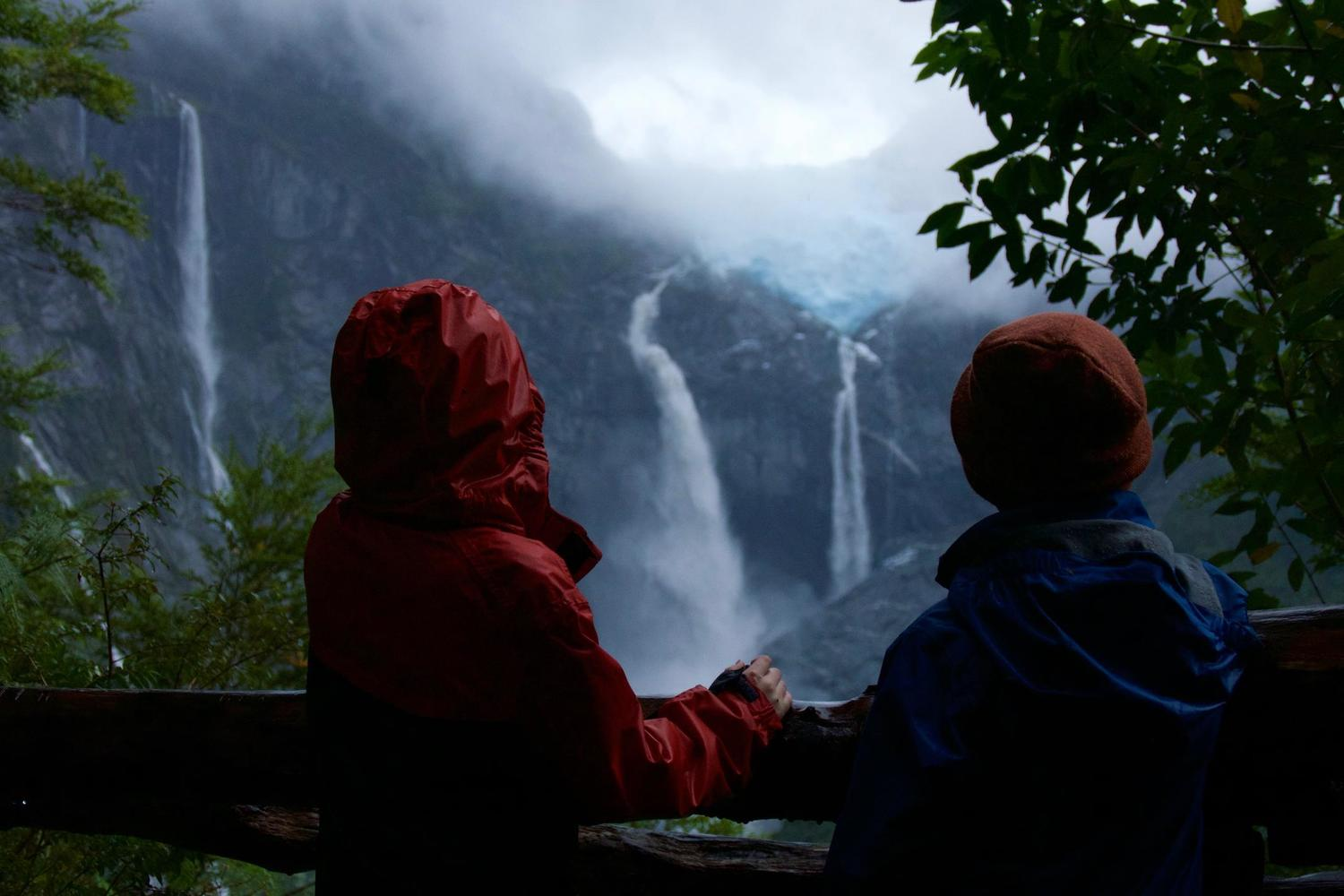 Looking out over the Hanging Glacier