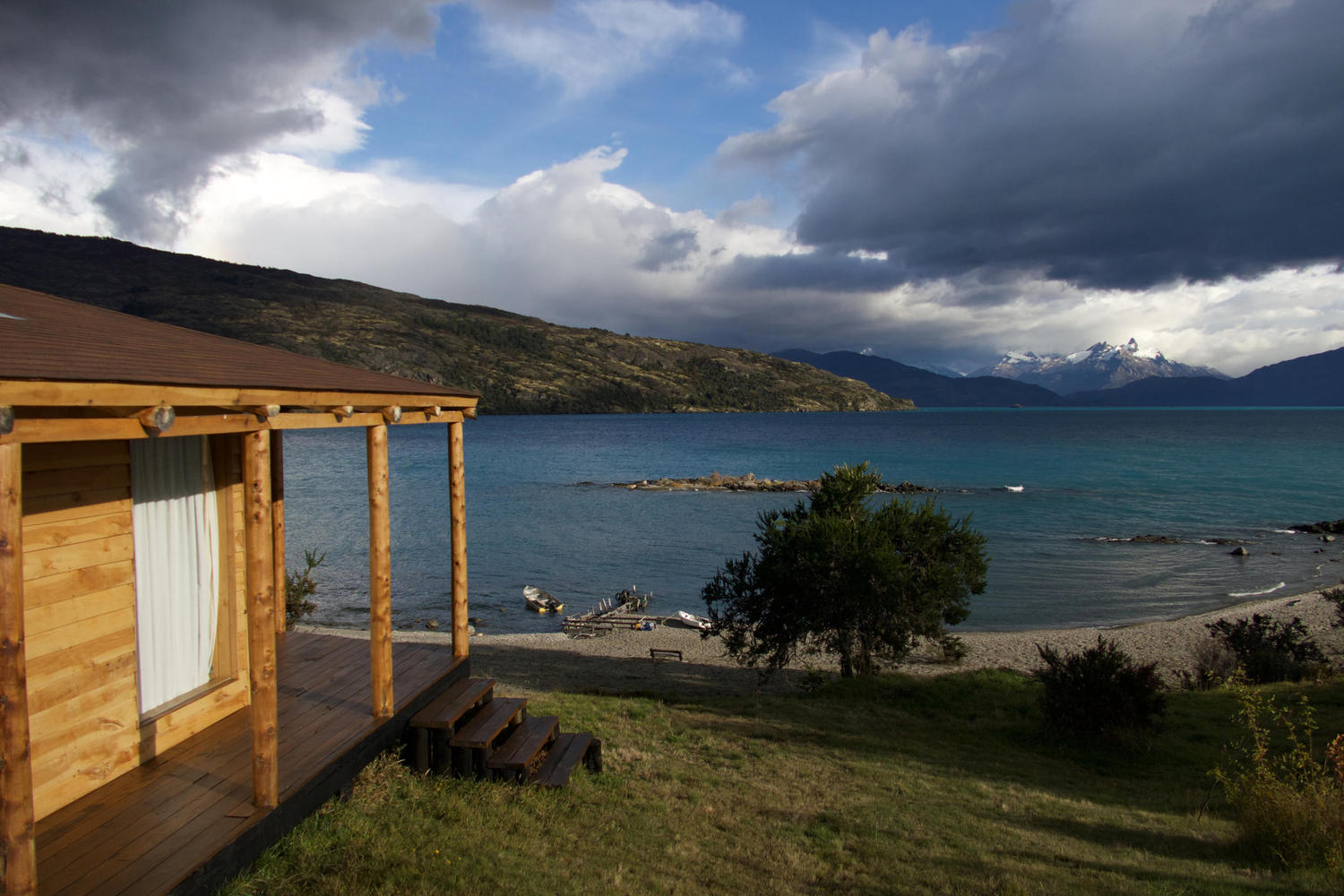 Looking out over Lago General Carrera in Chilean Patagonia