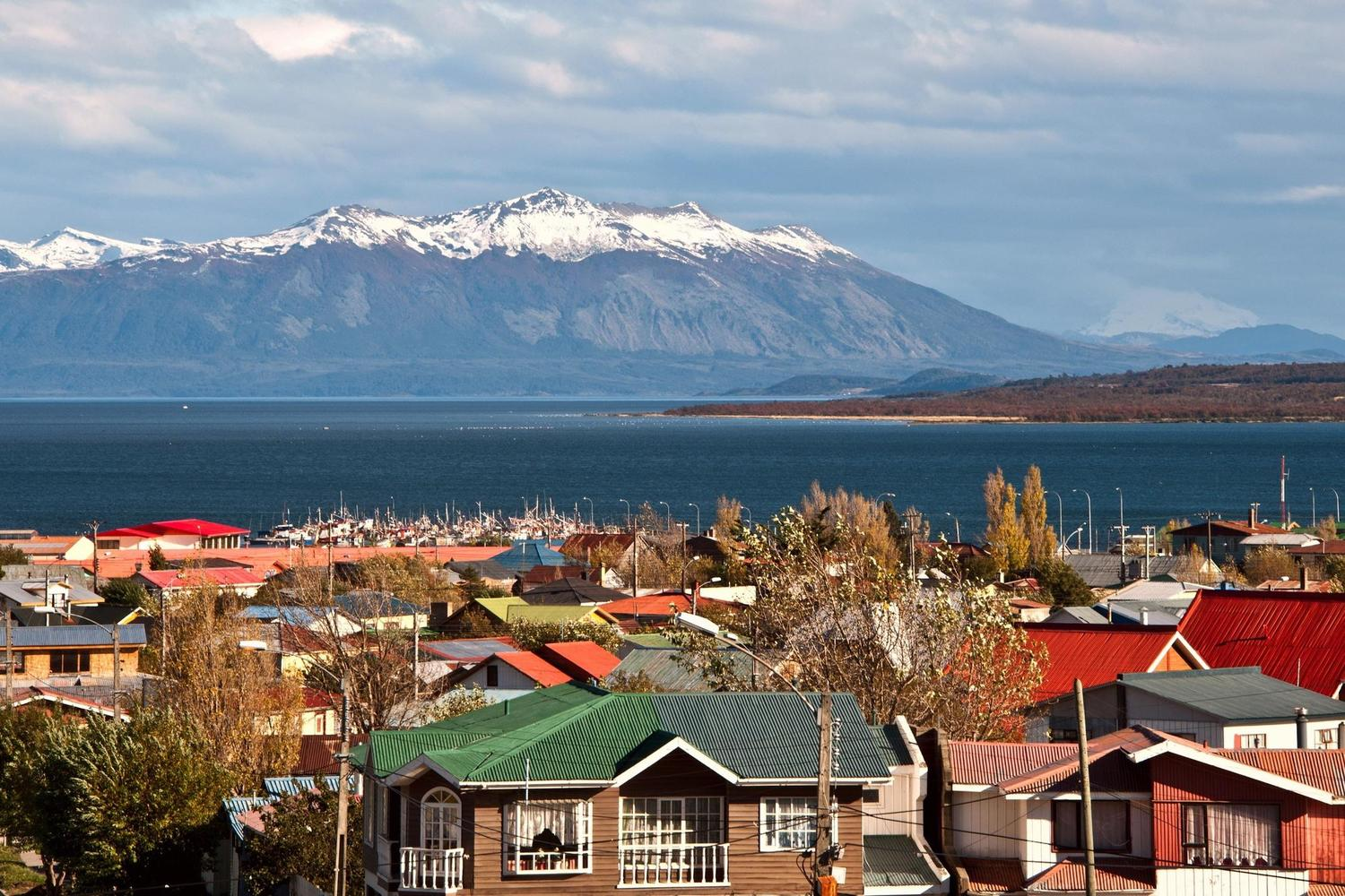 A bright day in Puerto Natales, Chile