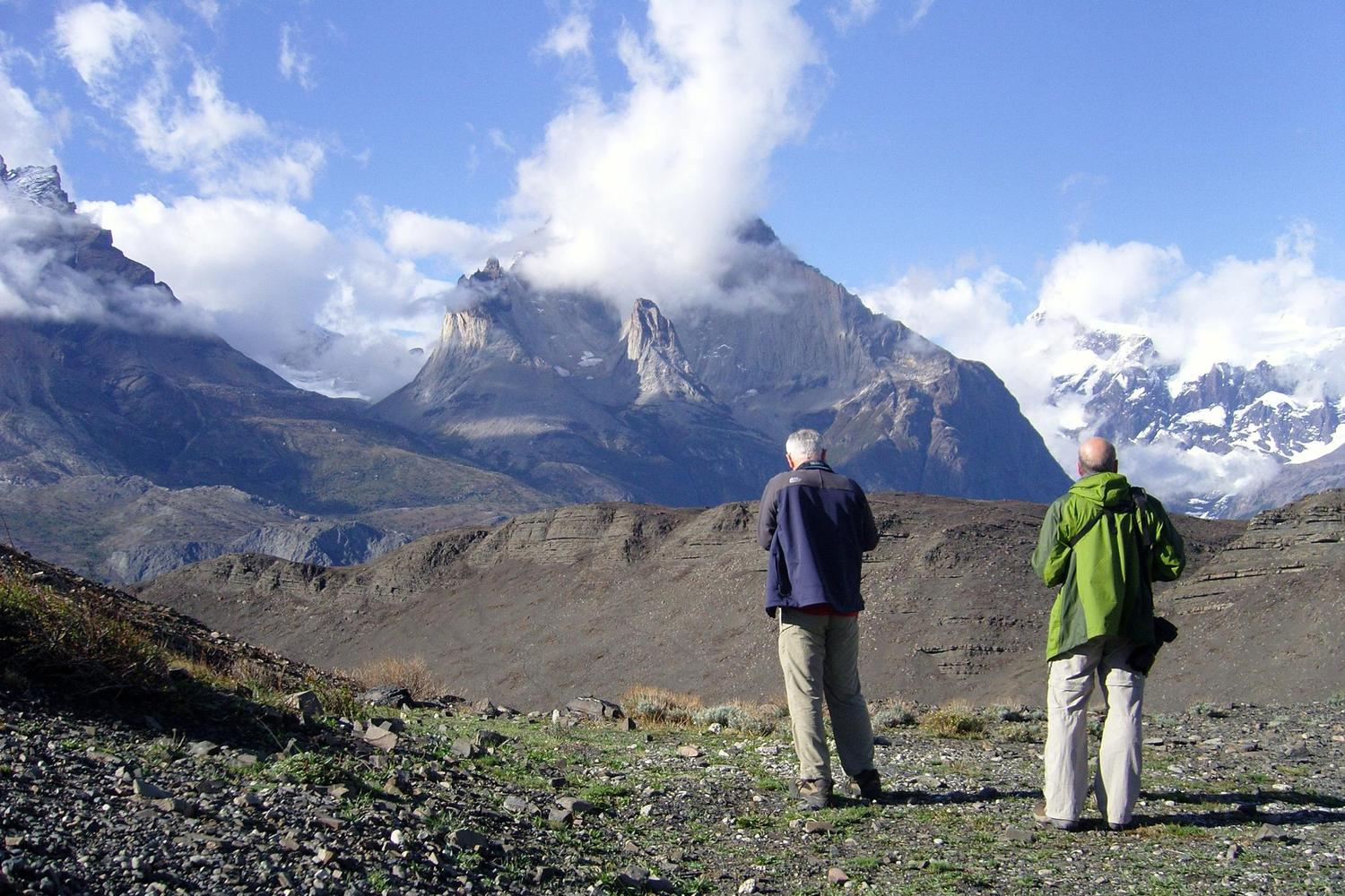 Waiting for the right light in Torres del Paine, Chile