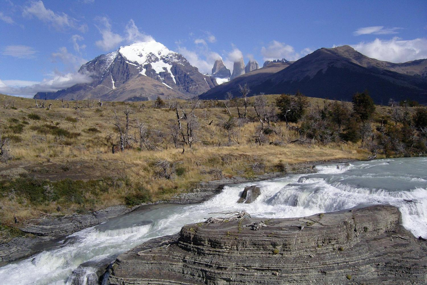 Glacial rivers in the Torres del Paine National Park