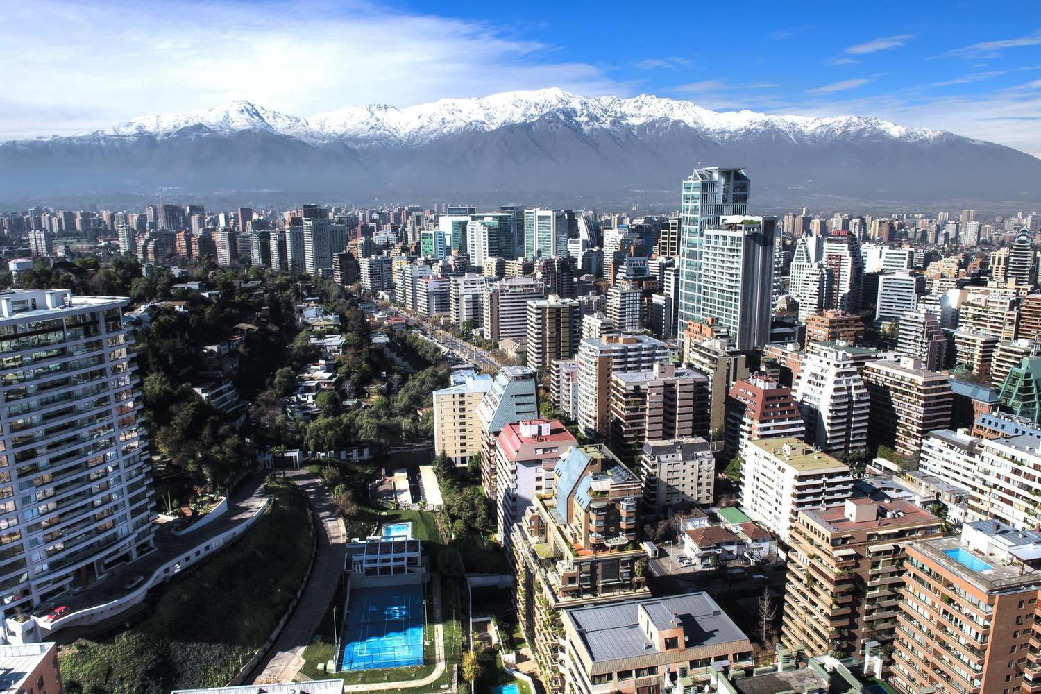 The skyline of Santiago de Chile