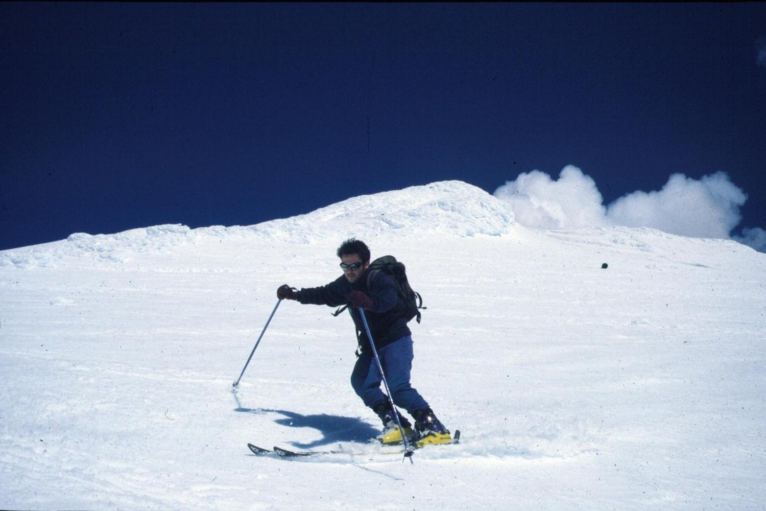 Skiing down the Villarica Volcano