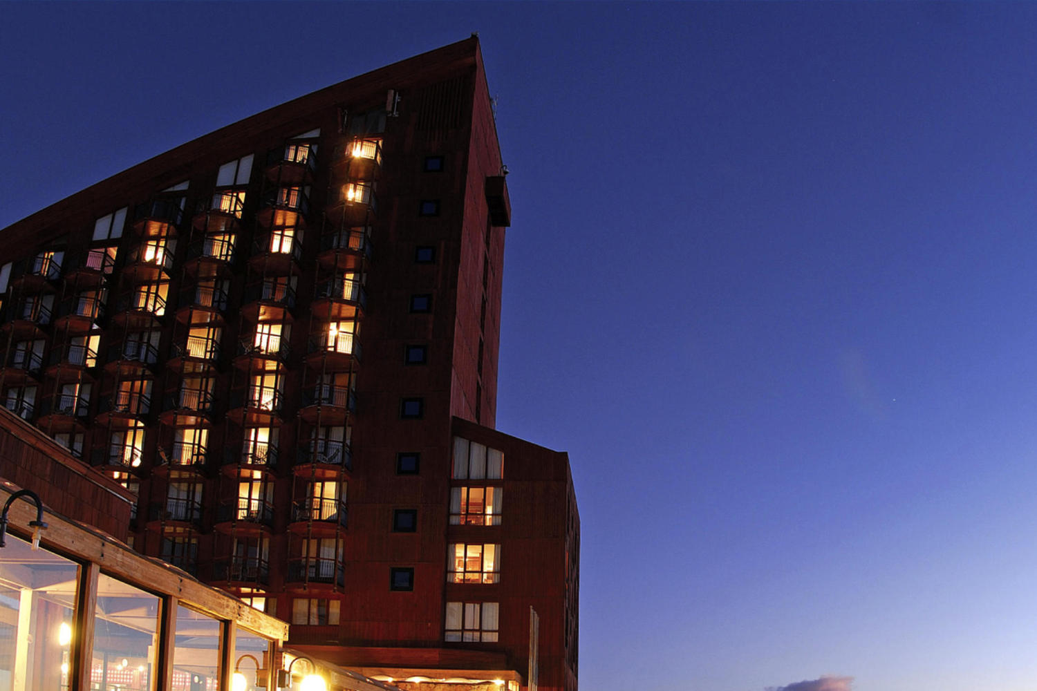 The hotel of Valle Nevado, Chile