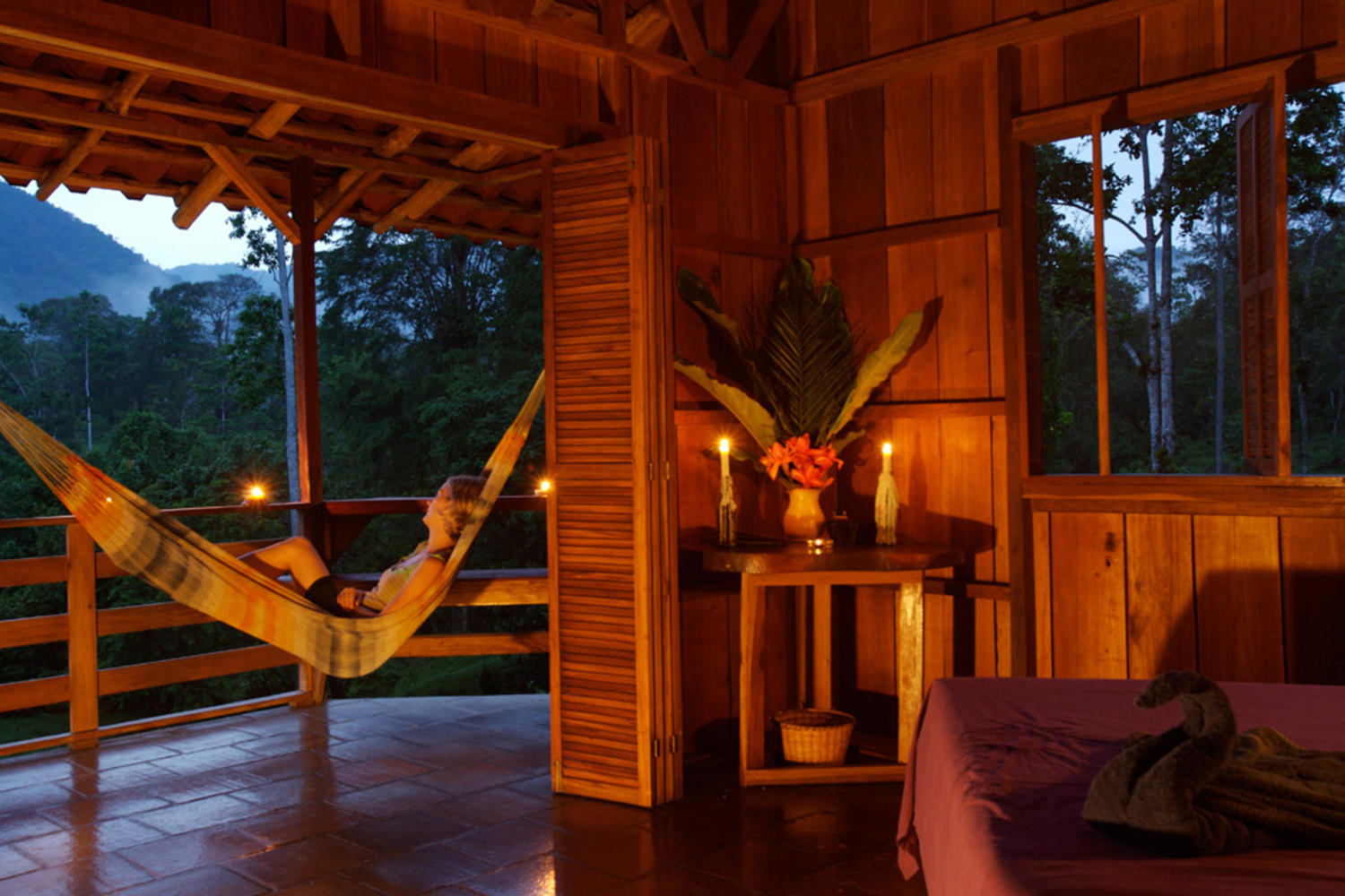 Relax in your bungalow at Selva Bananito