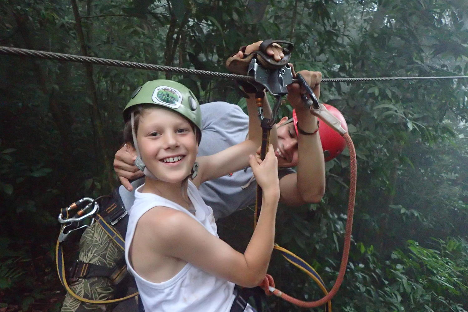 Smiling Ben ready to zip line at Osa Canopy