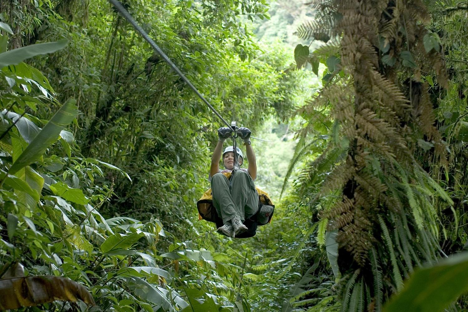Exhilarating zip lining in the forests of Costa Rica