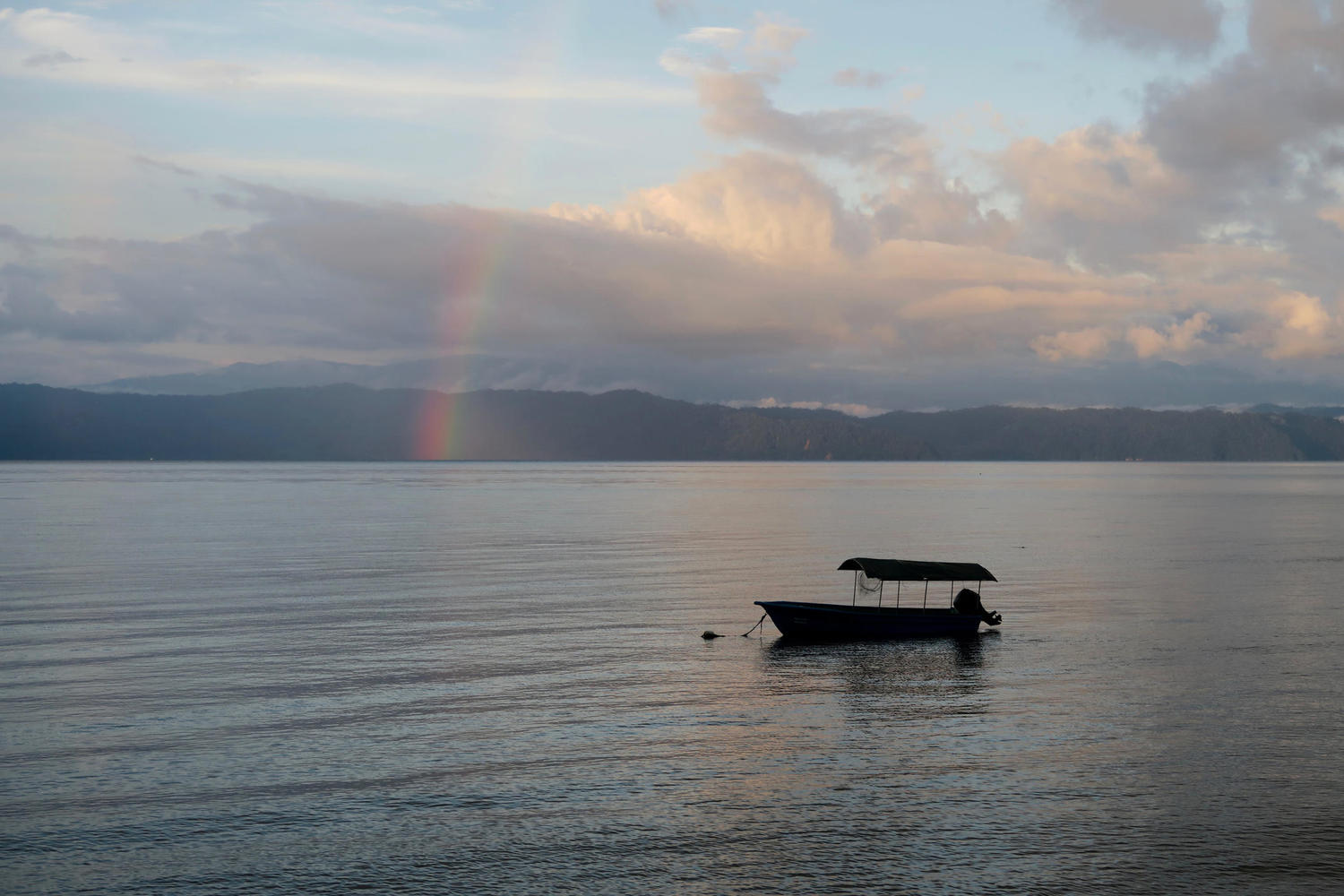 Rainbow over Golfo Dulce, Osa Peninsula