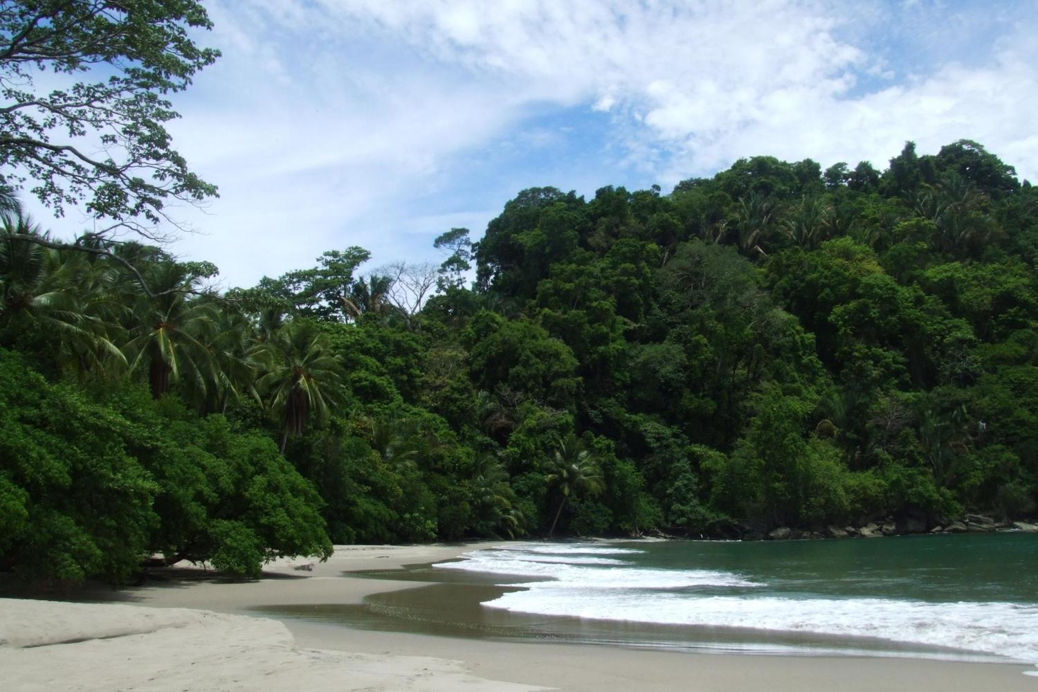 The sandy beaches of Manuel Antonio National Park