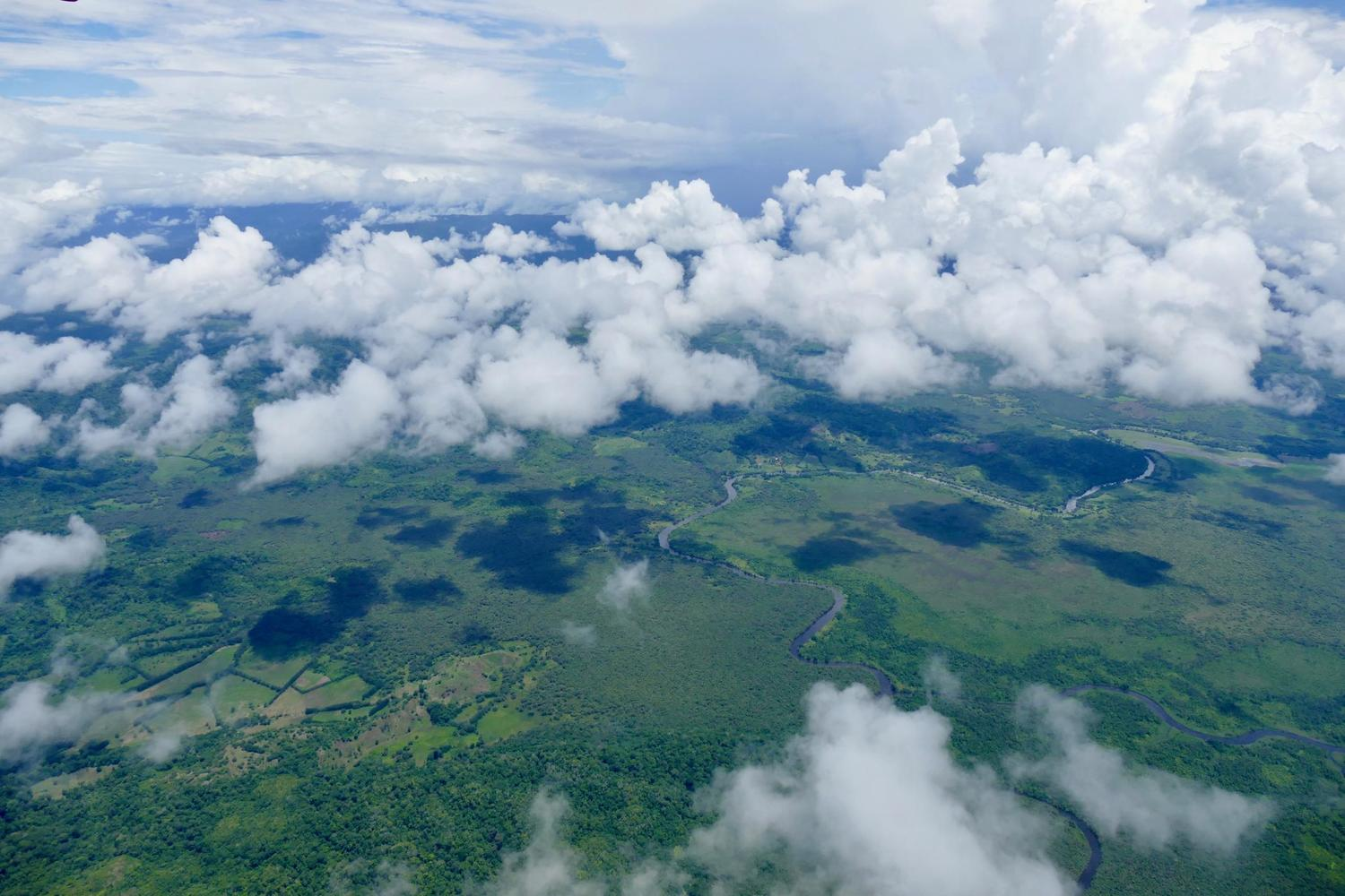 Flying over the central valley, Costa Rica