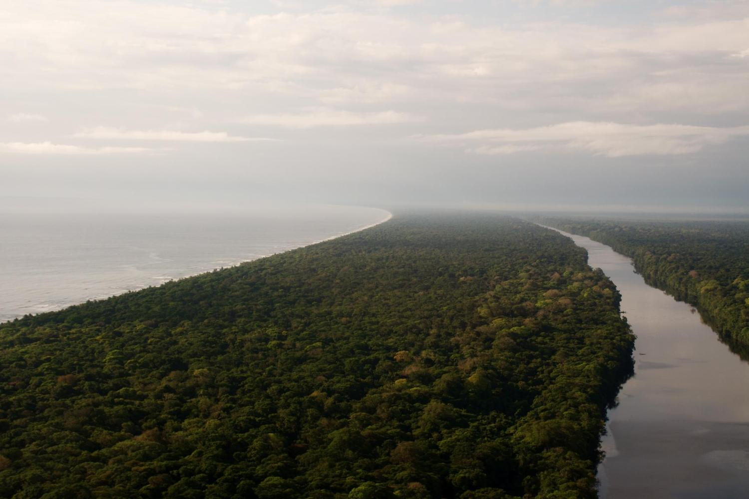 The waterways of Tortuguero on Costa Rica's Caribbean coast