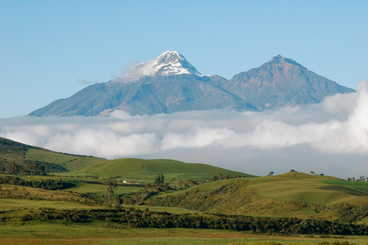 A rare clear day at Cotopaxi volcano, Ecuador