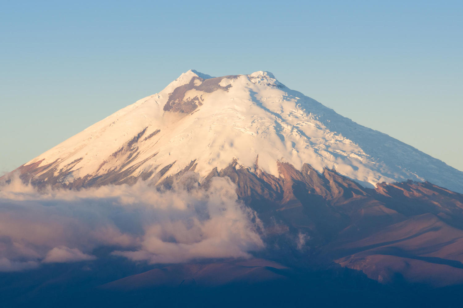 The majestic cone of Cotopaxi, the world's highest volcano