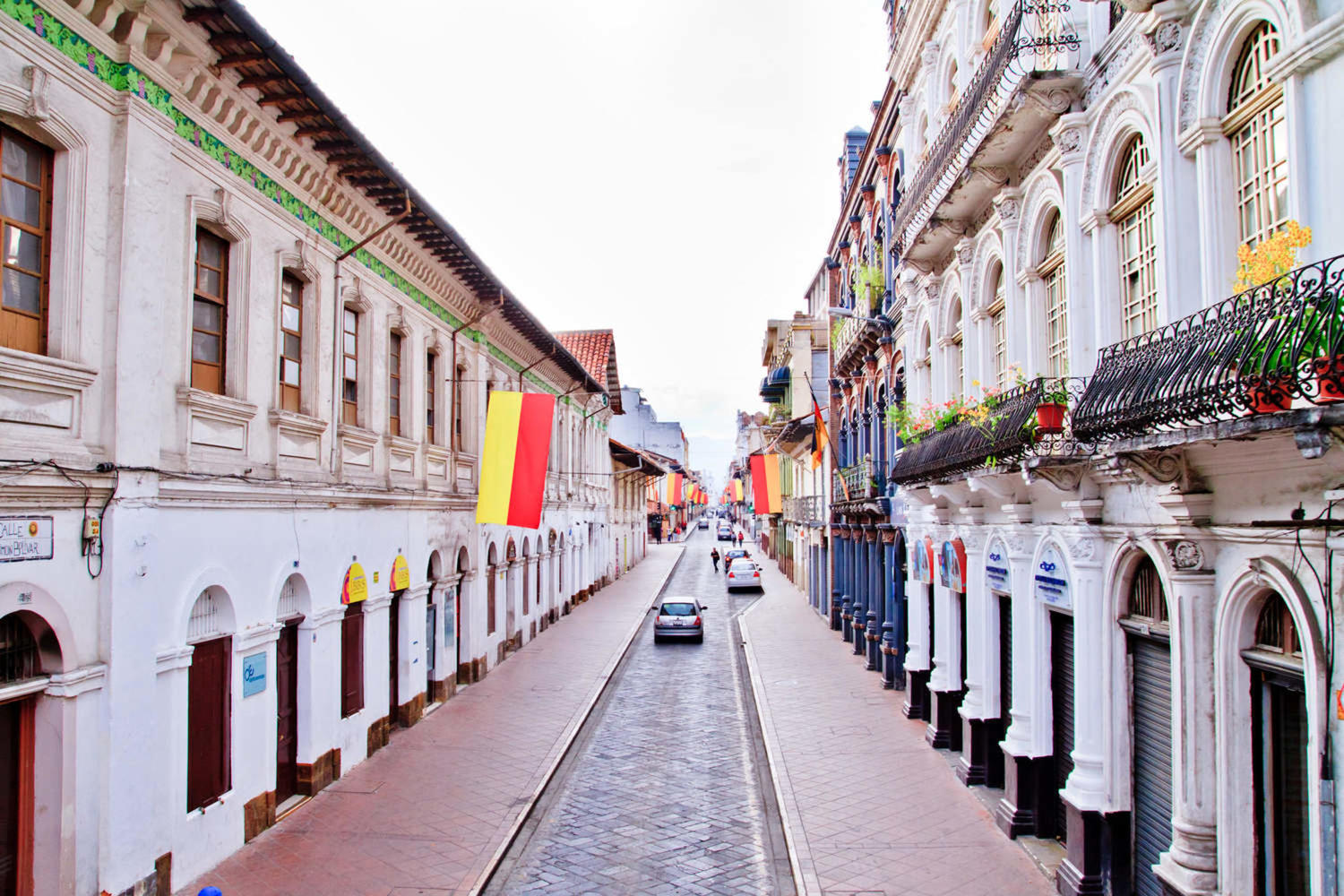 Streets of Cuenca during festivities