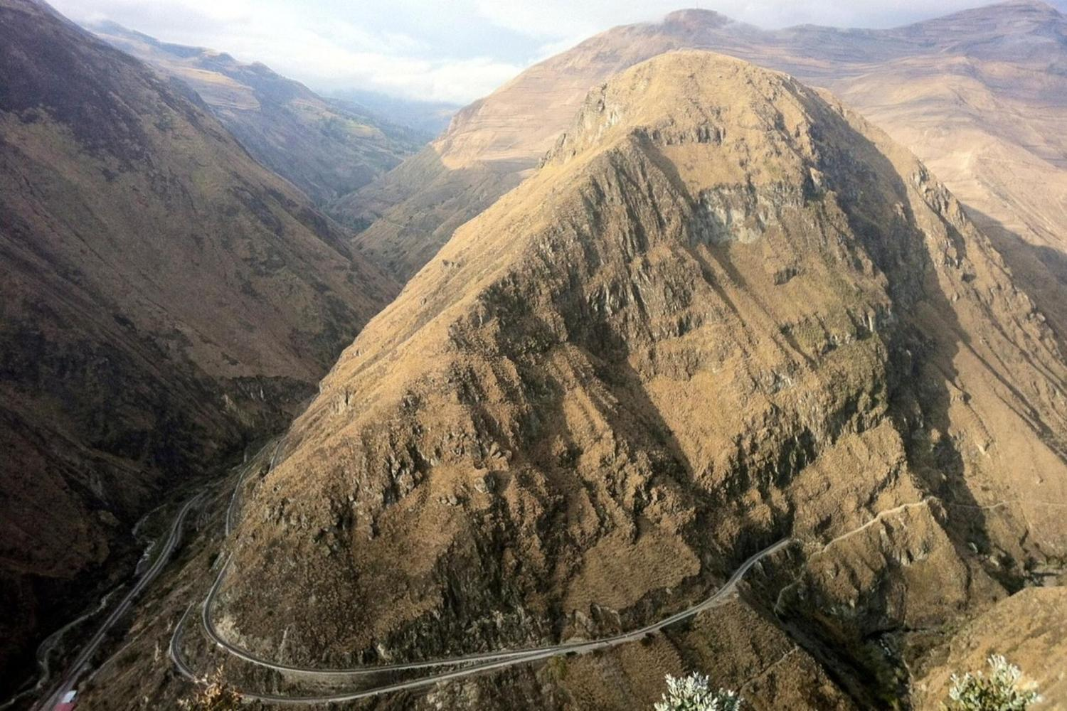 The Devil's Nose section of the railway between Alausi and Sibambe in Ecuador