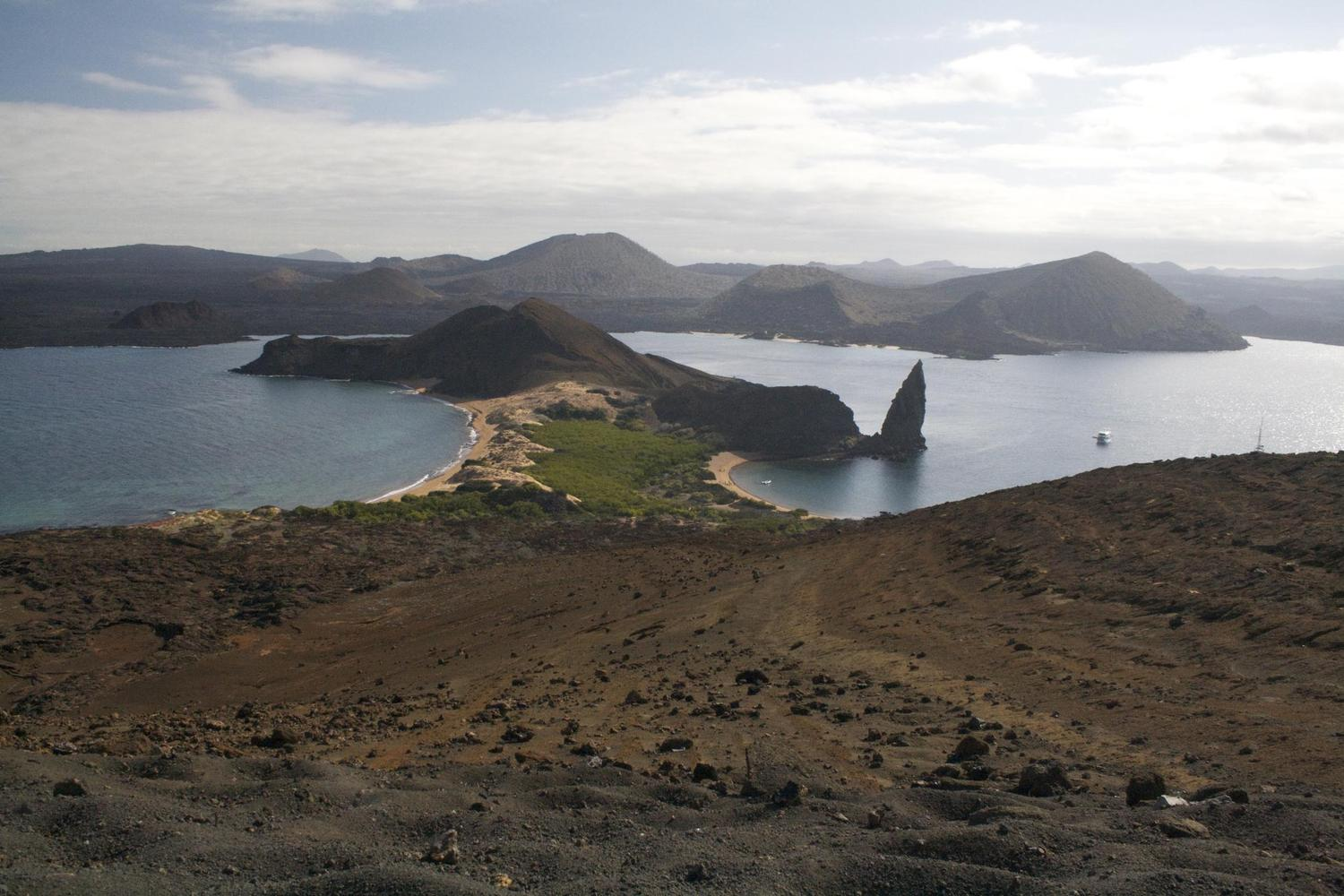 Views from the top of Bartolomé island, Galapagos