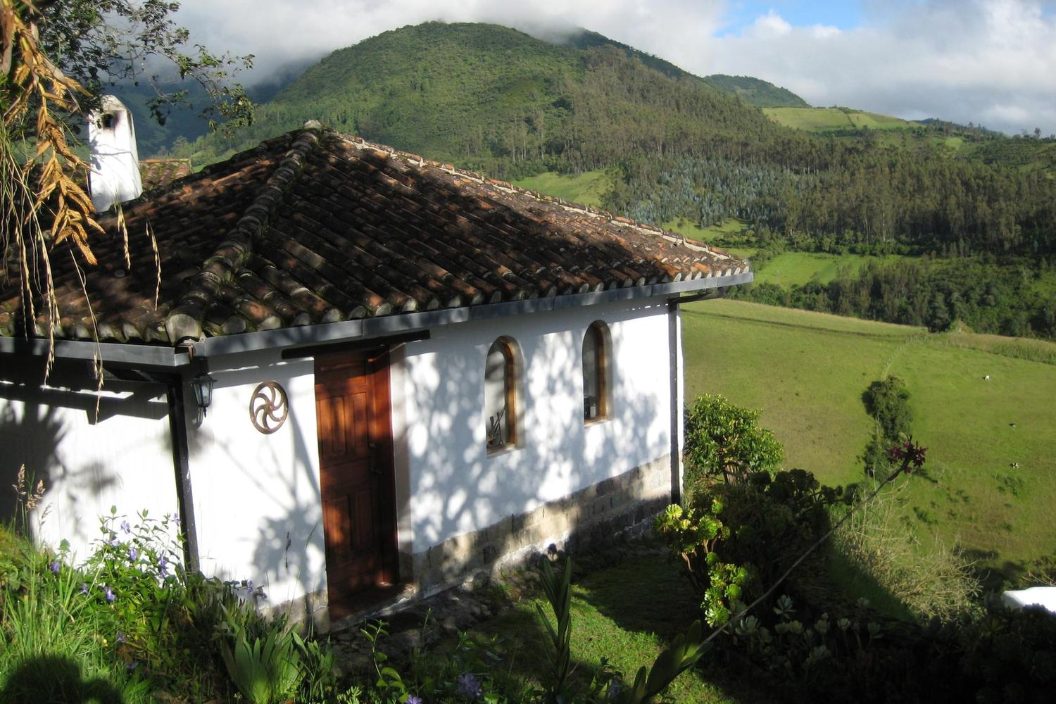Looking out from Casa Mojanda in Ecuador's Imbabura area