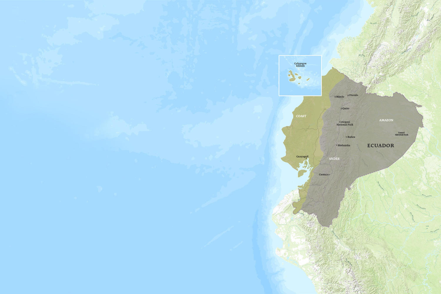 Ecuador When to Go Map - February