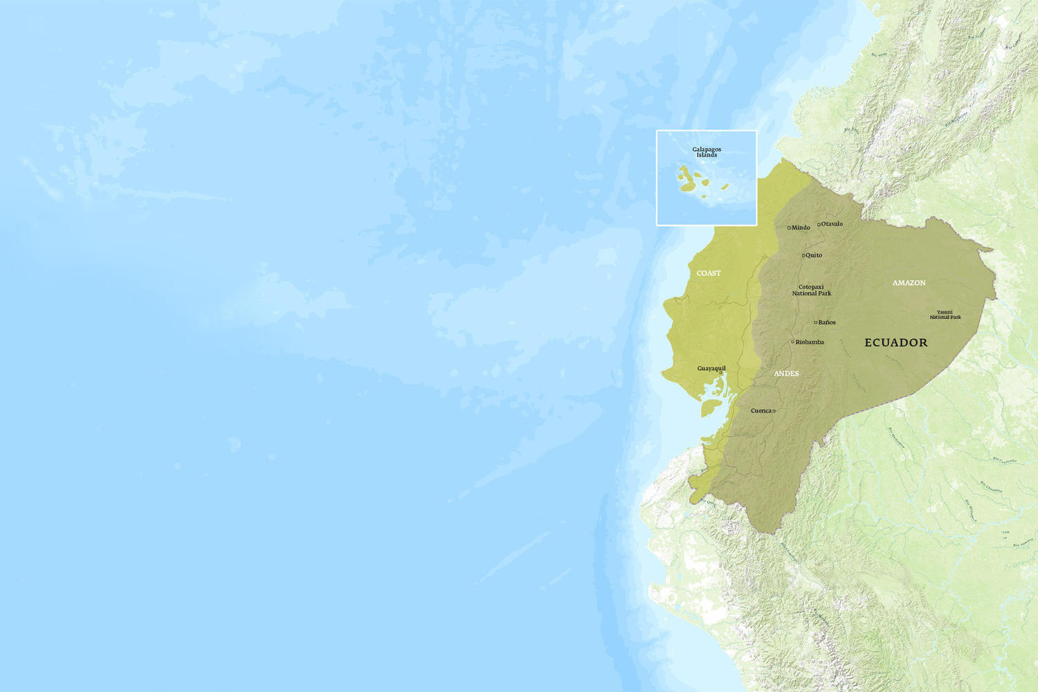 Ecuador When to Go Map - November