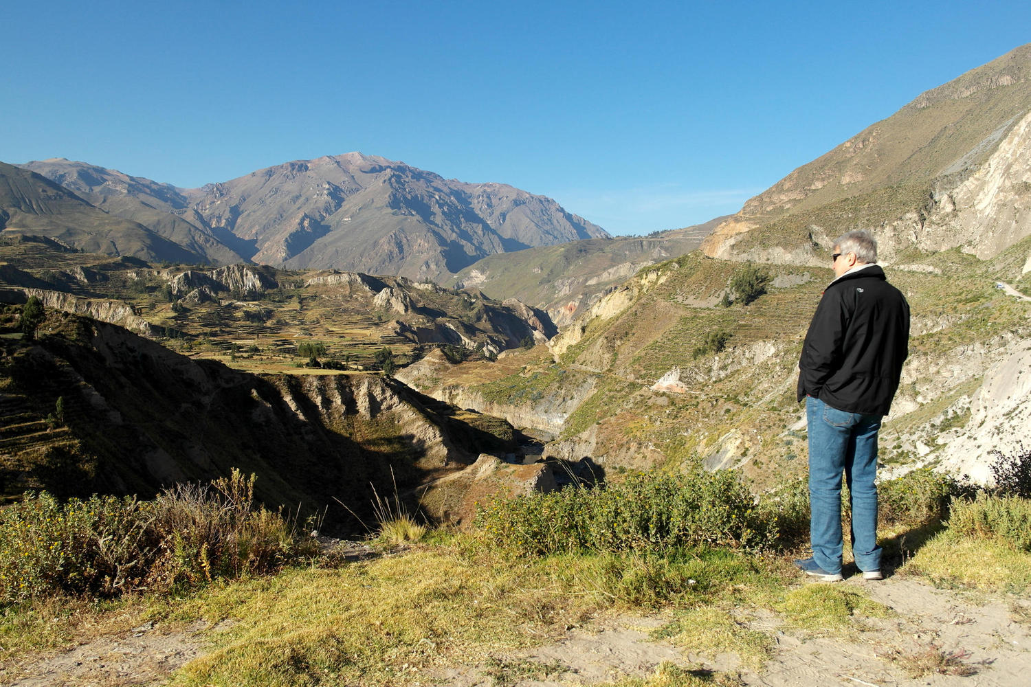 Looking out over the Colca Canyon, Peru