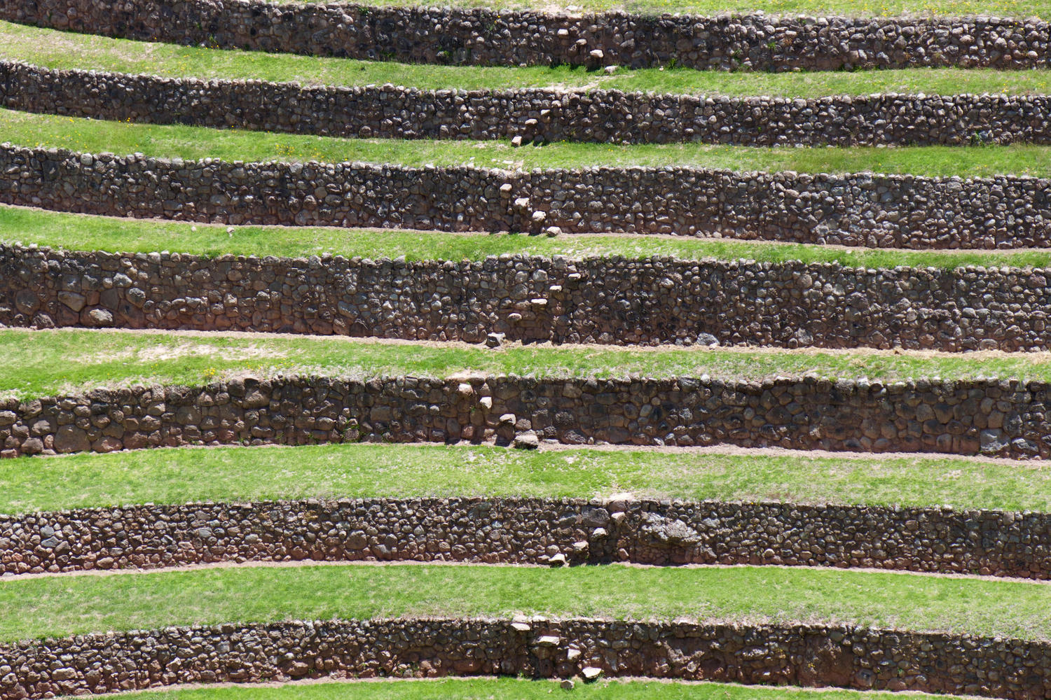 Terraces at the Inca site of Moray