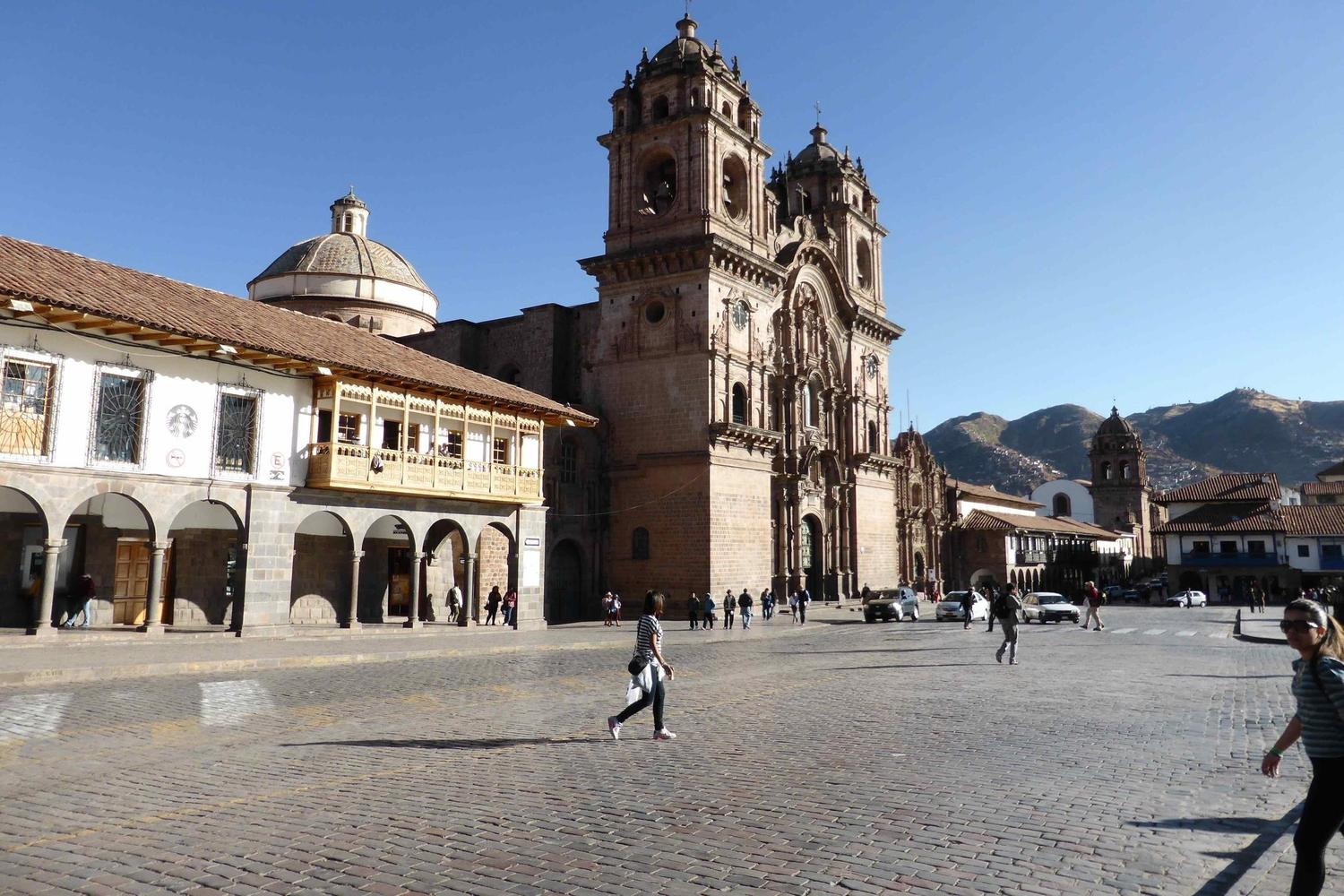 Strolling around the lovely Plaza de Armas in Cusco