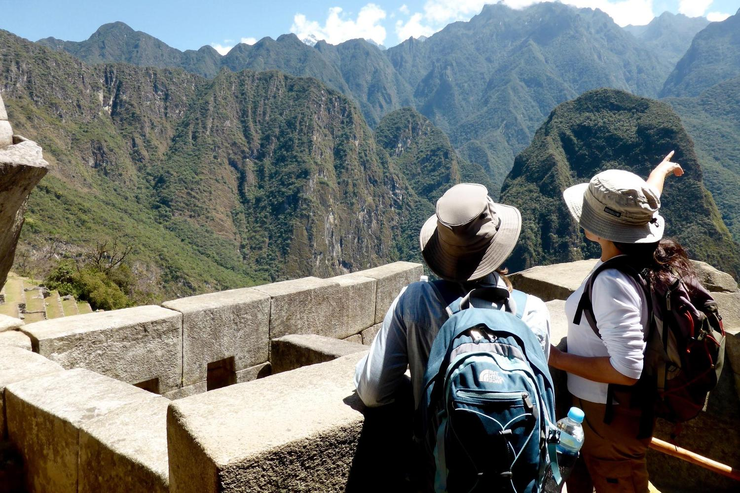 Looking out over the Royal Inca Trail to Machu Picchu