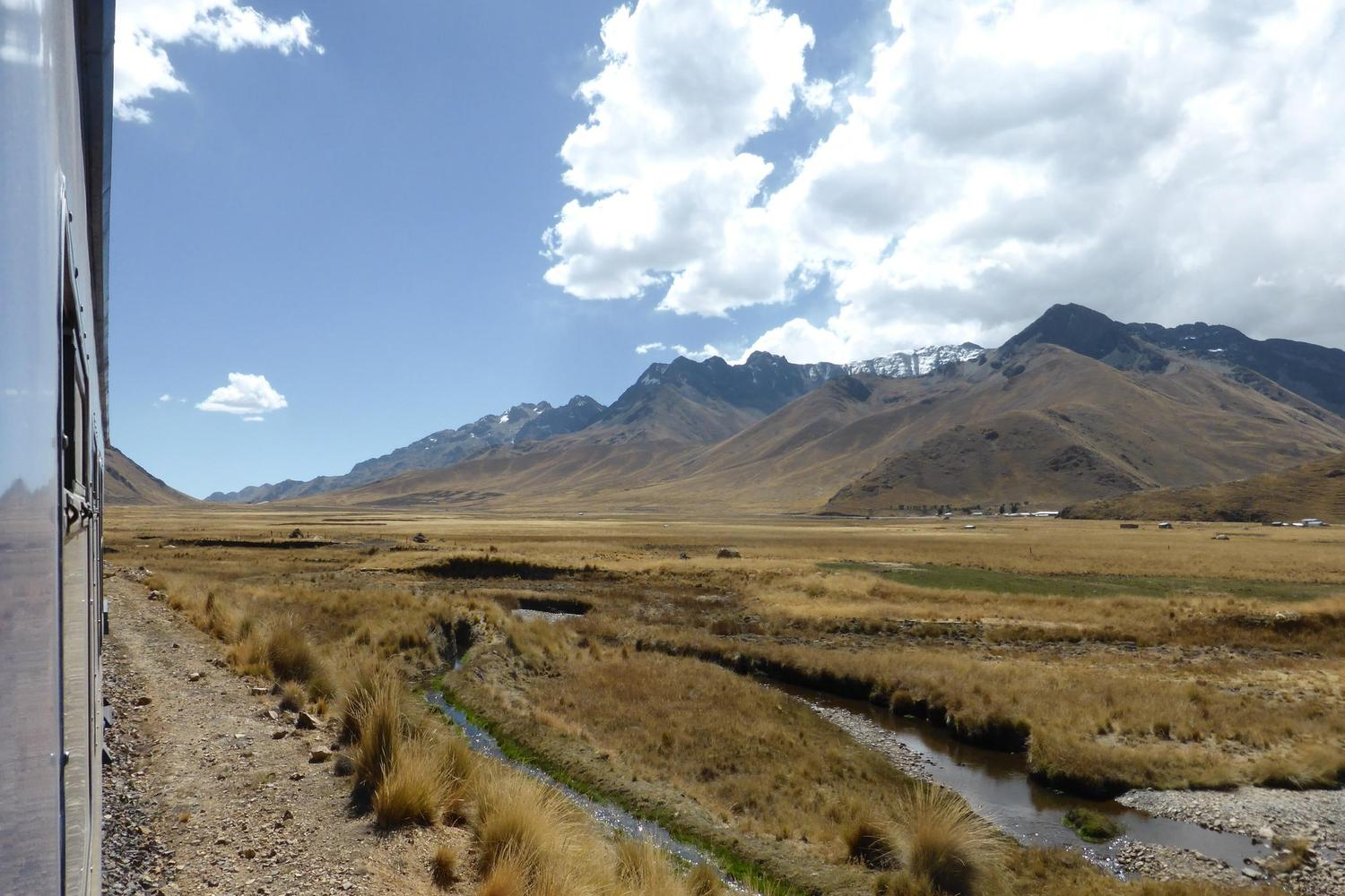 The Andean Explorer train from Cusco to Puno