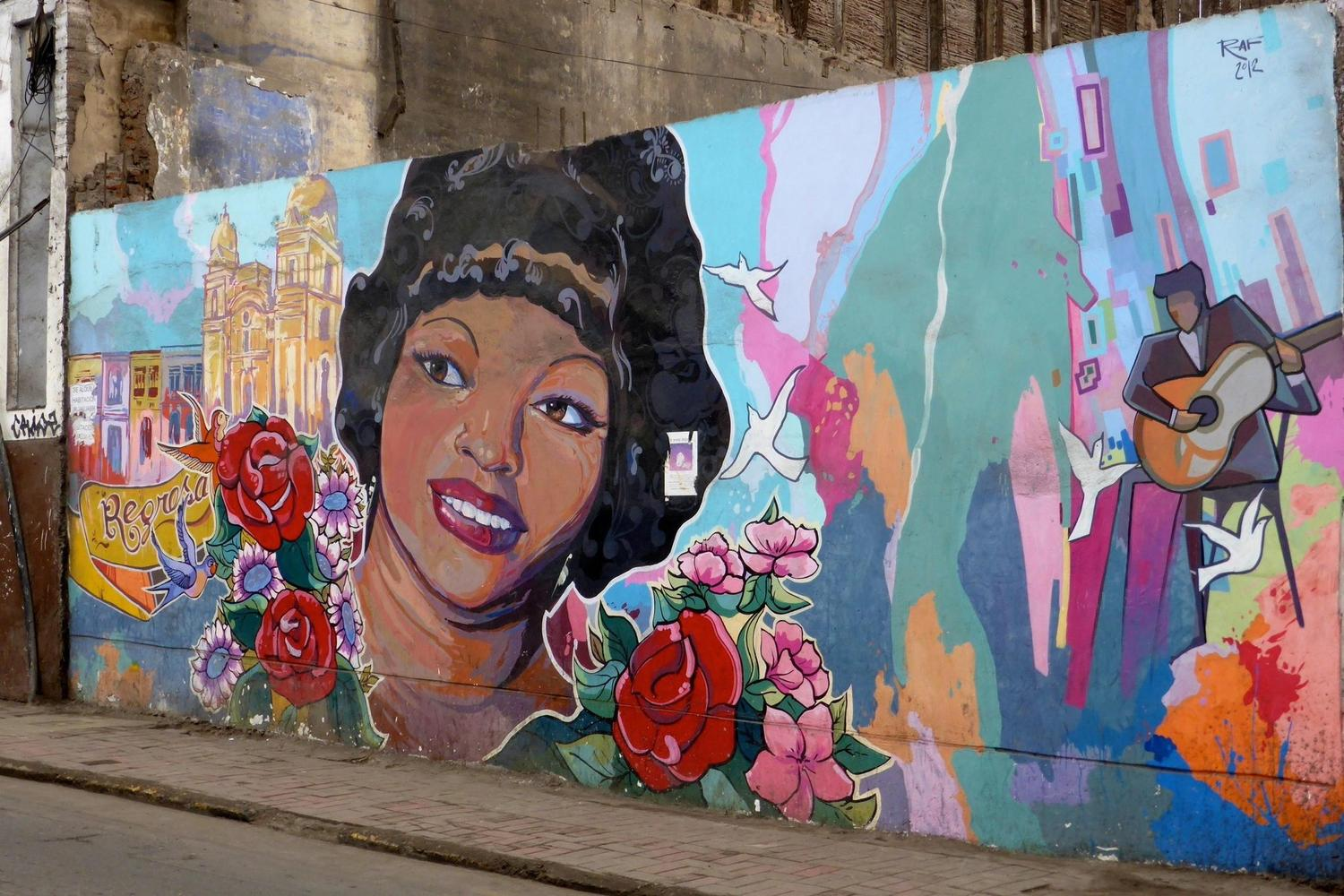 A street mural in Lima