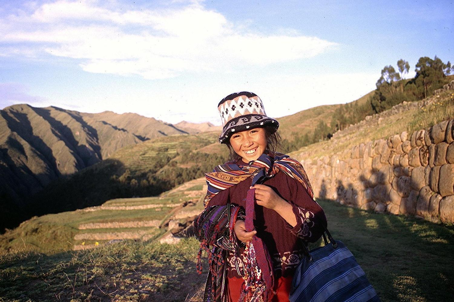 Selling trinkets in the Sacred Valley, Peru